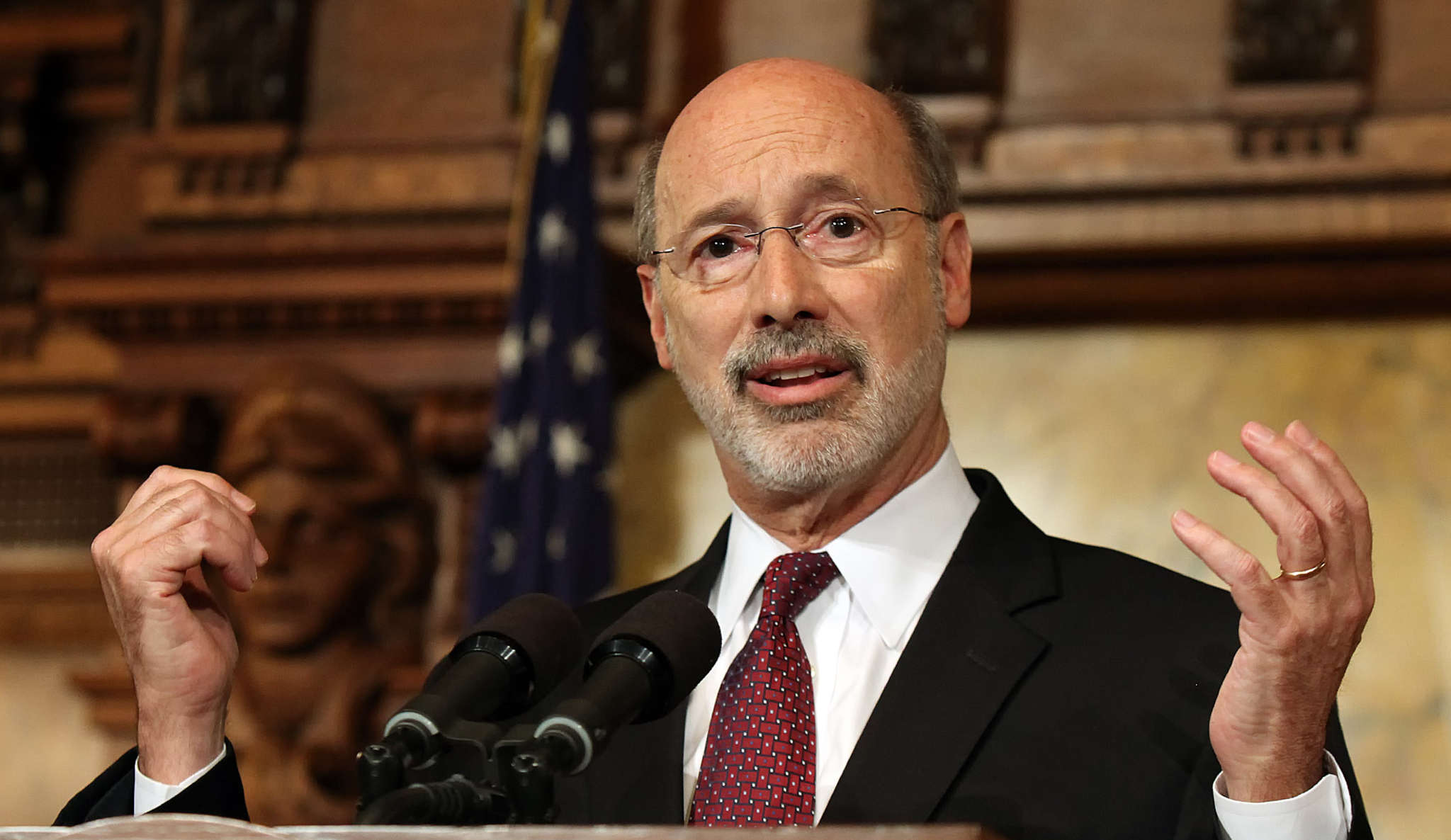 CHRIS KNIGHT / ASSOCIATED PRESS Gov. Wolf will get his top goal - more for schools - without adding a natural-gas severance tax.