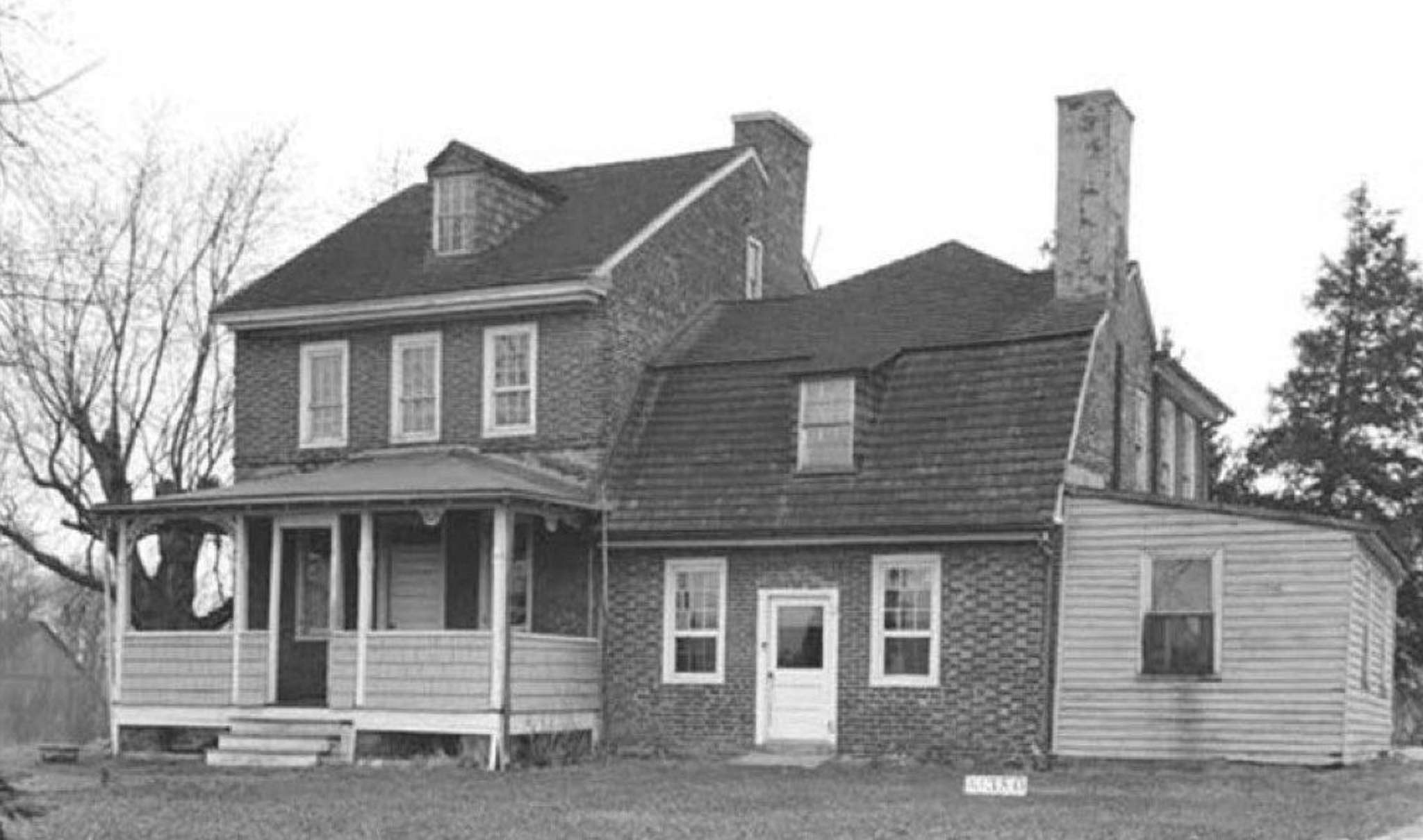 The Hugg-Harrison-Glover house , circa 1935. It has undergone a series of alterations and renovations since it was built in the 18th century, and at first missed preservation guidelines set by the state Historic Preservation Office. On review, it met them, but it was too late. Courtesy Margaret Westfield