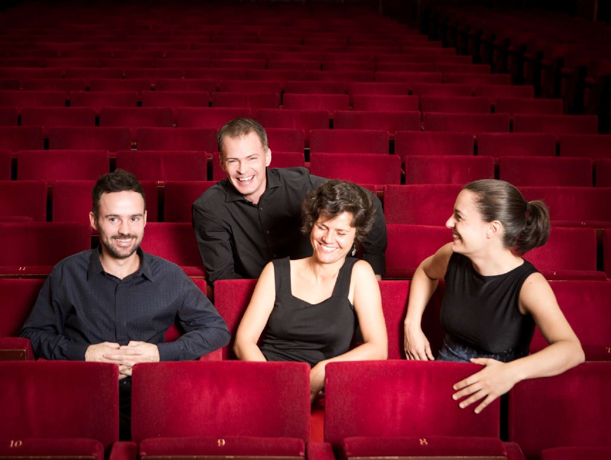 The Elias String Quartet: (from left) Donald Grant, Martin Saving, Sara Bitlloch, Marie Bitlloch.