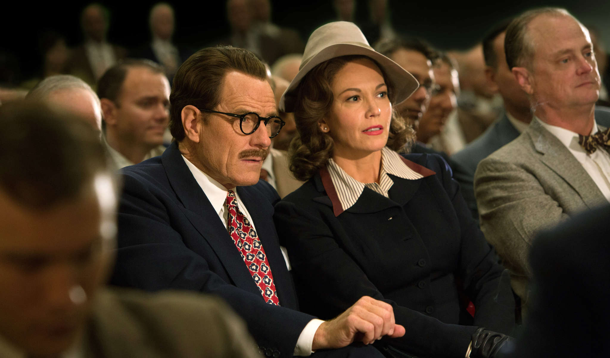 Bryan Cranston and Diane Lane as the embattled Trumbos.