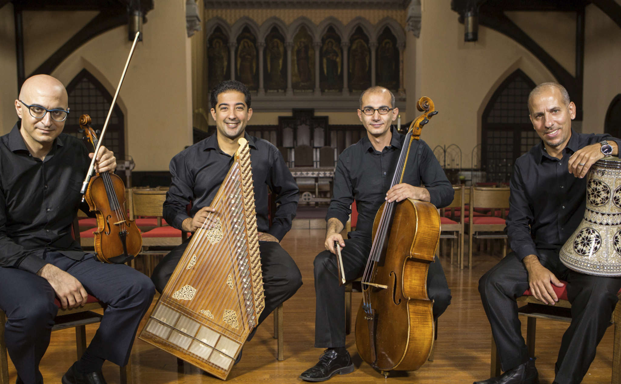 The Al-Bustan Takht Ensemble, which blends instruments from the Middle East and the West, will be among groups in the ambitious project Words Adorned: Andalusian Poetry and Music, on Saturday at Bryn Mawr College.