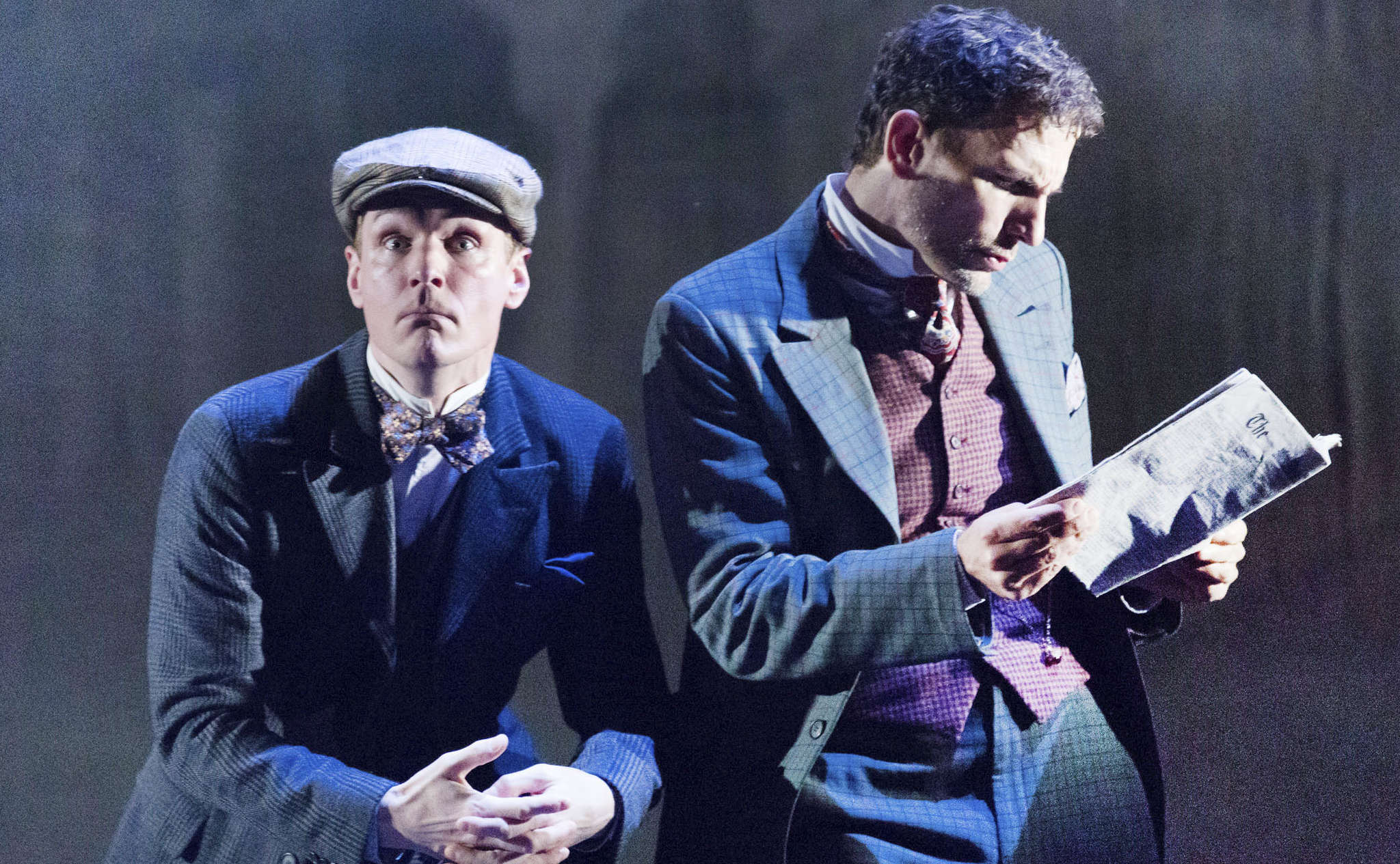 "The game´s (yawn) afoot: Henry Clarke (left) and Ron Menzel in ""Baskerville."""