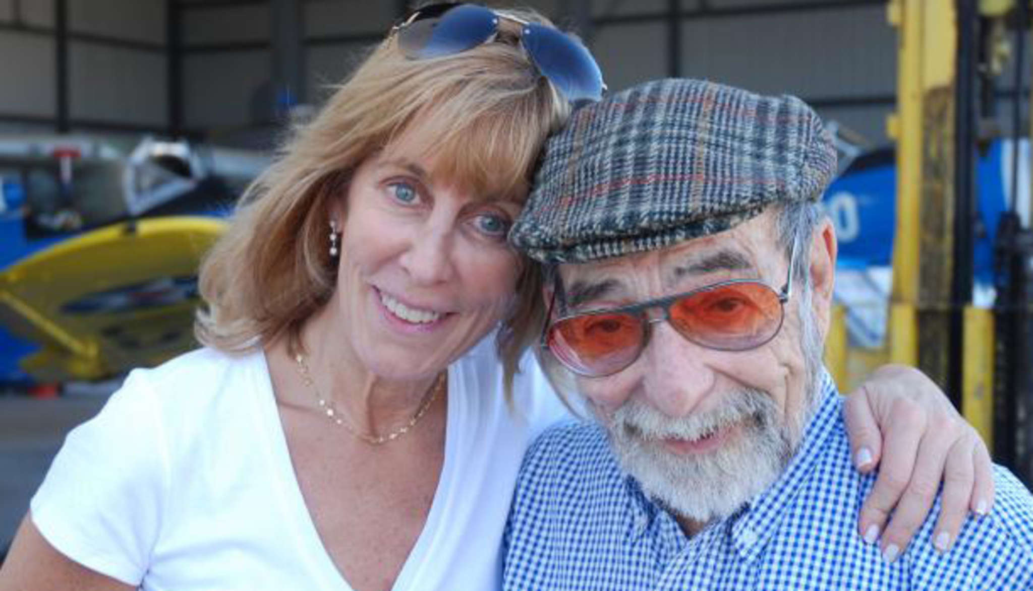 Nancy Spielberg and Harold Livingston, a founding member of Israel´s air force.