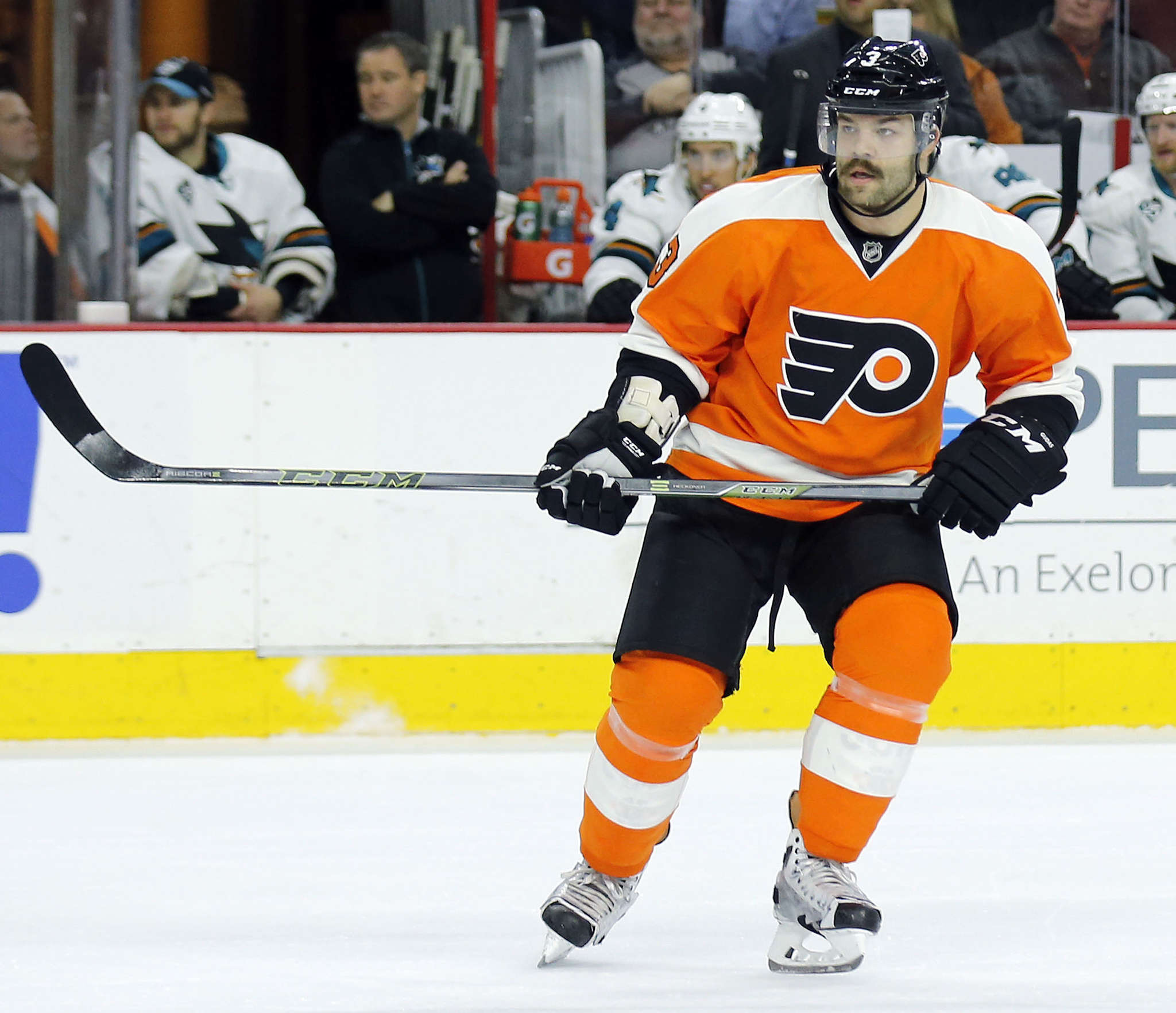 The Flyers´ Radko Gudas will sit out the third and final game of a suspension Tuesday and be eligible to return Thursday in St. Louis. His physical play has been a pleasant surprise this season, second in the league with 118 hits.