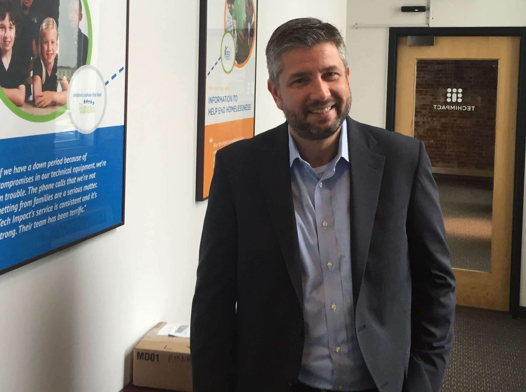 Patrick Callihan, executive director of Tech Impact, helps at-risk urban youth move into IT careers.