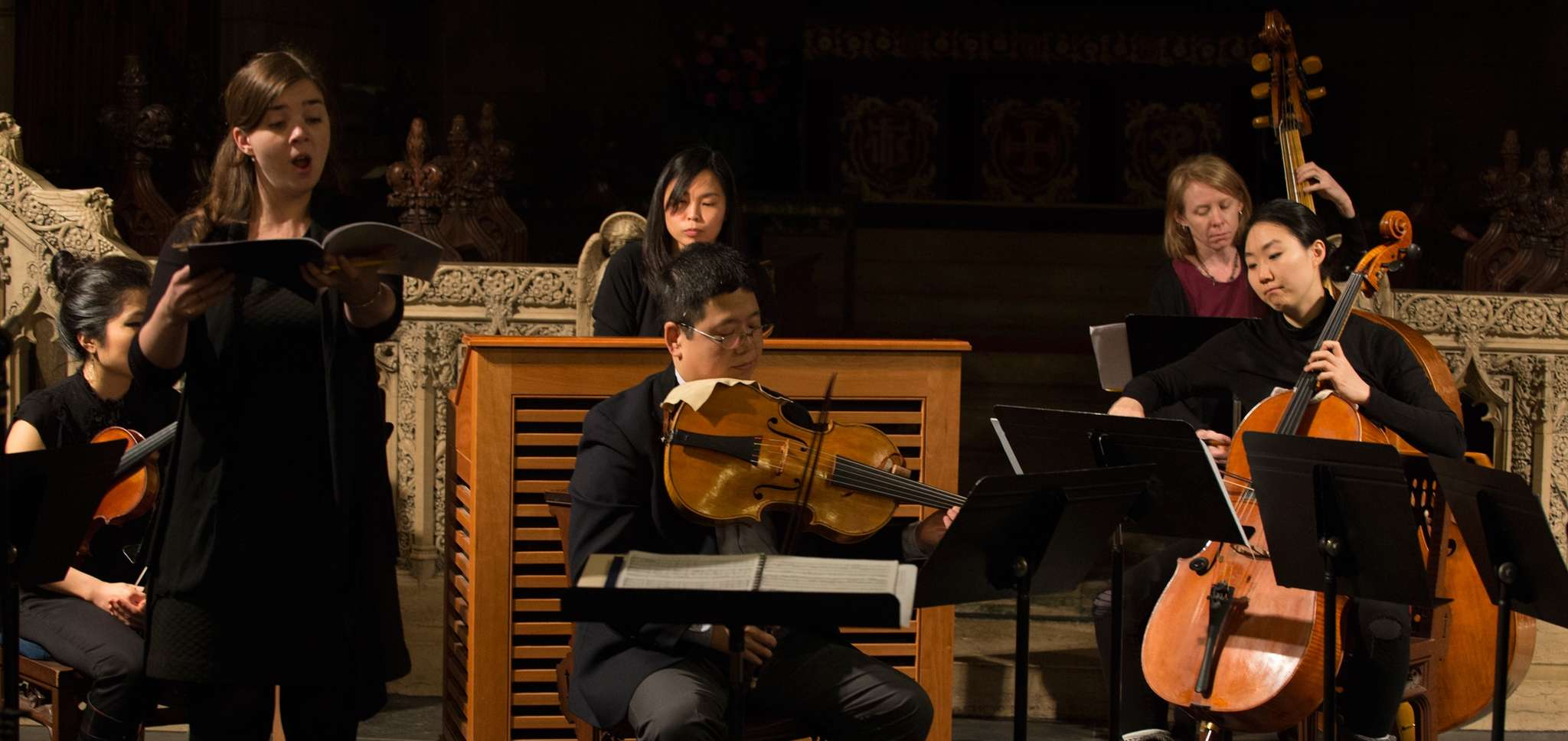 The Bach Gamut Ensemble during a 2014 performance in Philadelphia.