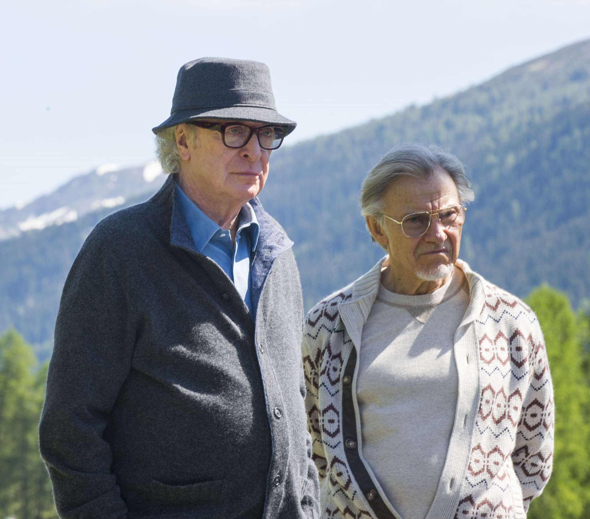 "Old friends: Michael Caine (left) and Harvey Keitel in ""Youth."""