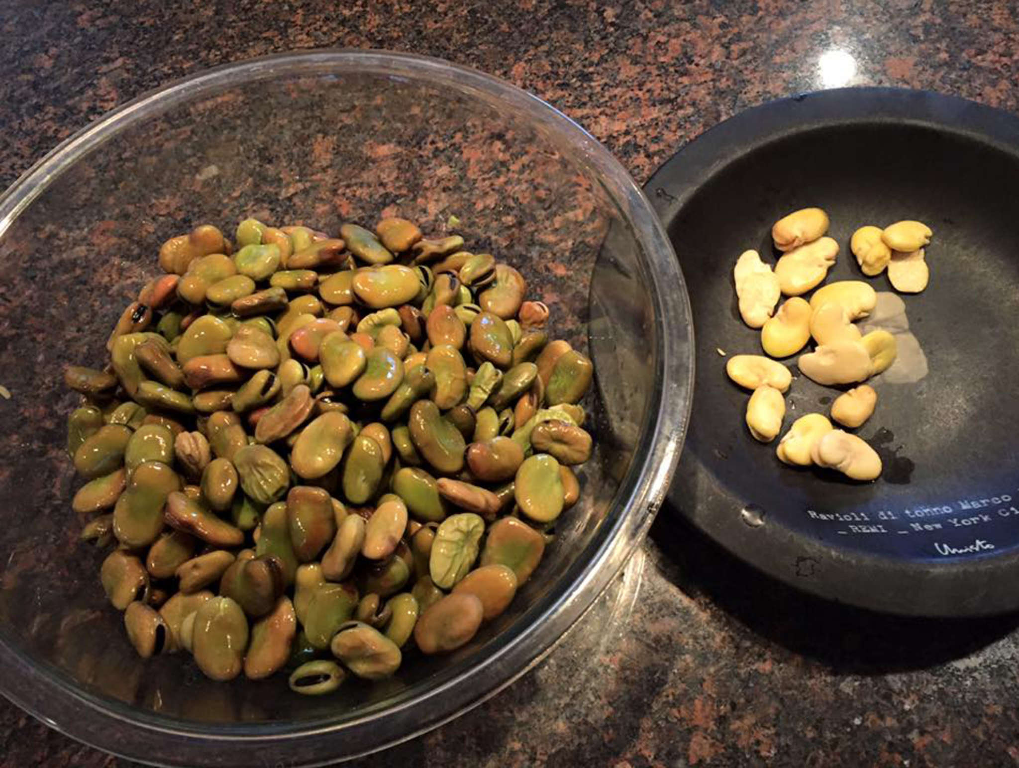 """She was warned: One recipe noted, """"Shelling fava beans can be such tedious work that making this soup becomes an act of love."""""""