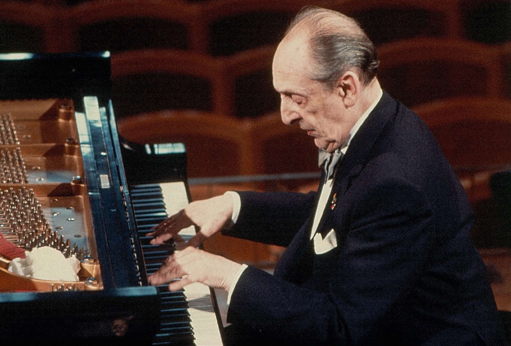 Pianist Vladimir Horowitz, whose 66-year career is conveyed in two boxed sets - one with 50 CDs, one just two. Almost anything ever said about his playing - great, awful, contradictory - finds verification somewhere in these sets.