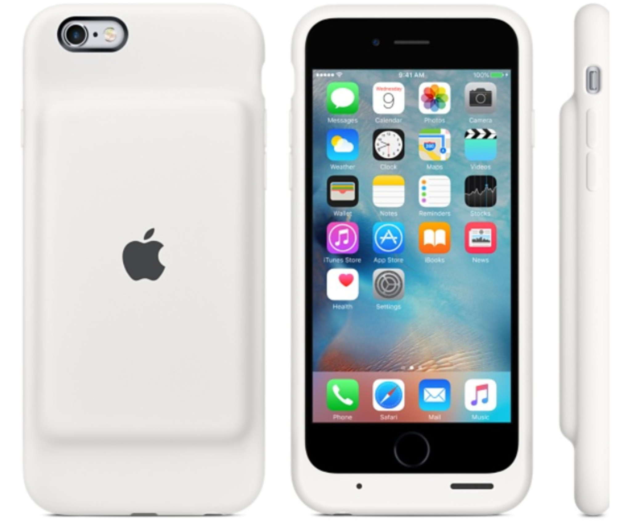 An iPhone 6S user will surely get a charge out of this Apple-branded Smart Battery Case.