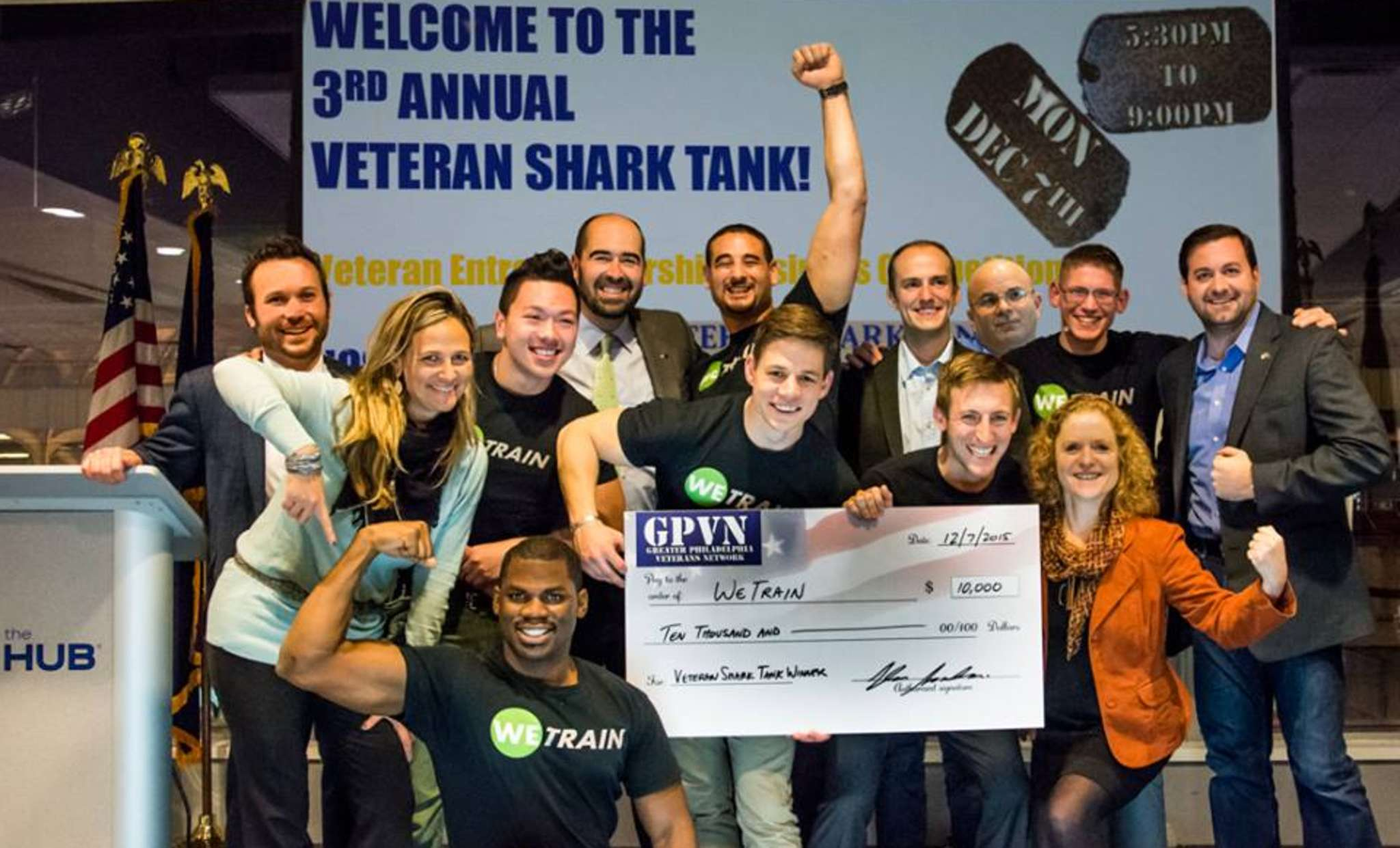 Philadelphia-based WeTrain won $10,000 in the Veterans Shark Tank competition.