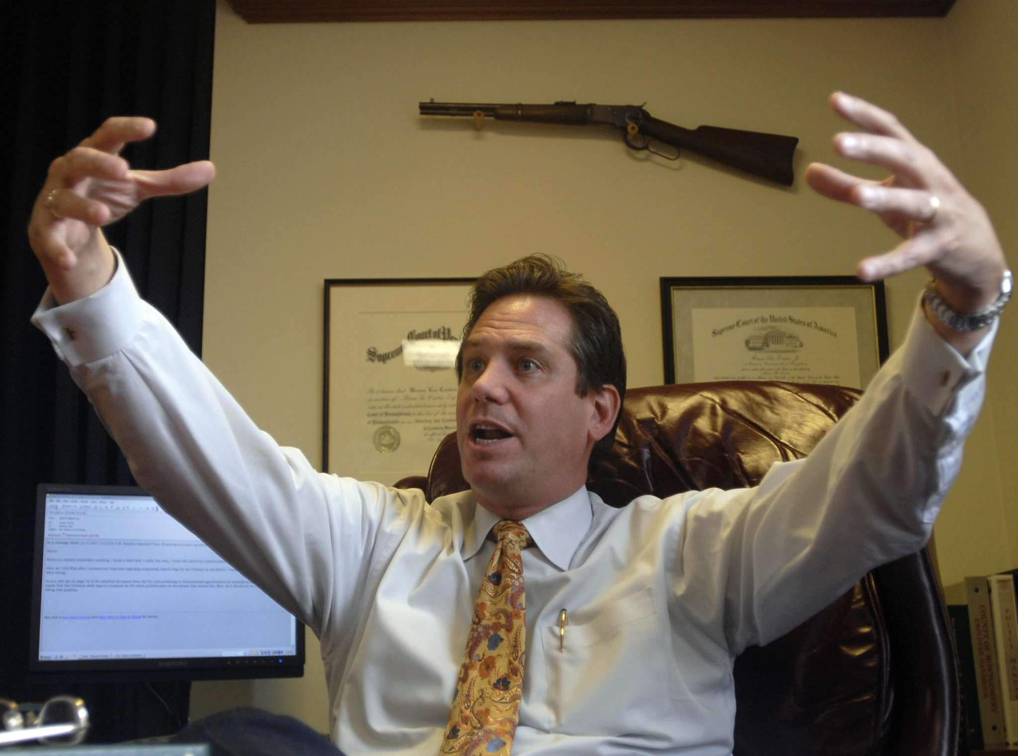 "Geez ... former Montco D.A. Bruce Castor was apparently loaded for blare, instead of just saying ""No comment."" FILE PHOTO"