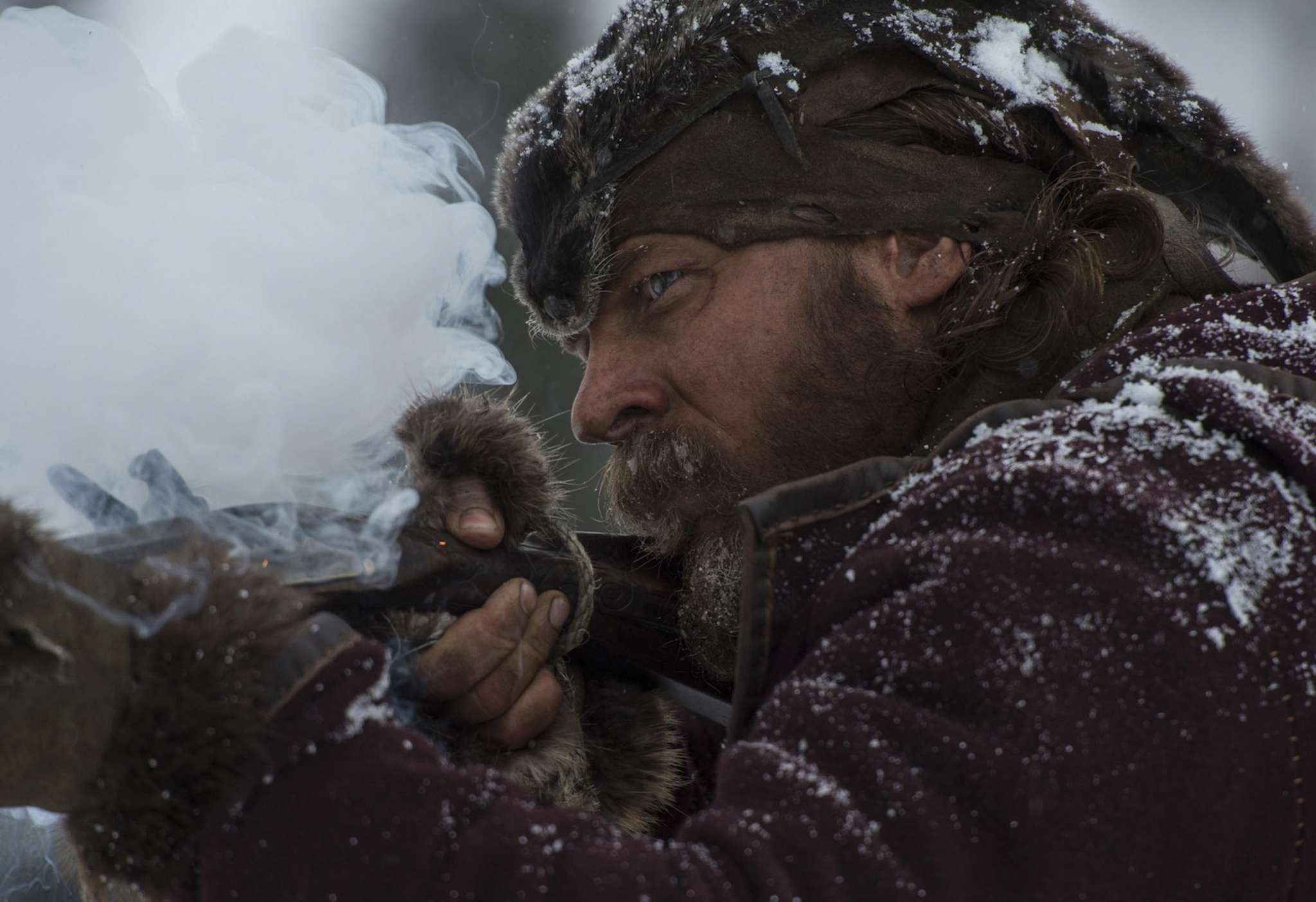 "Tom Hardy as Hugh Glass´ nemesis and prey John Fitzgerald in ""The Revenant."""