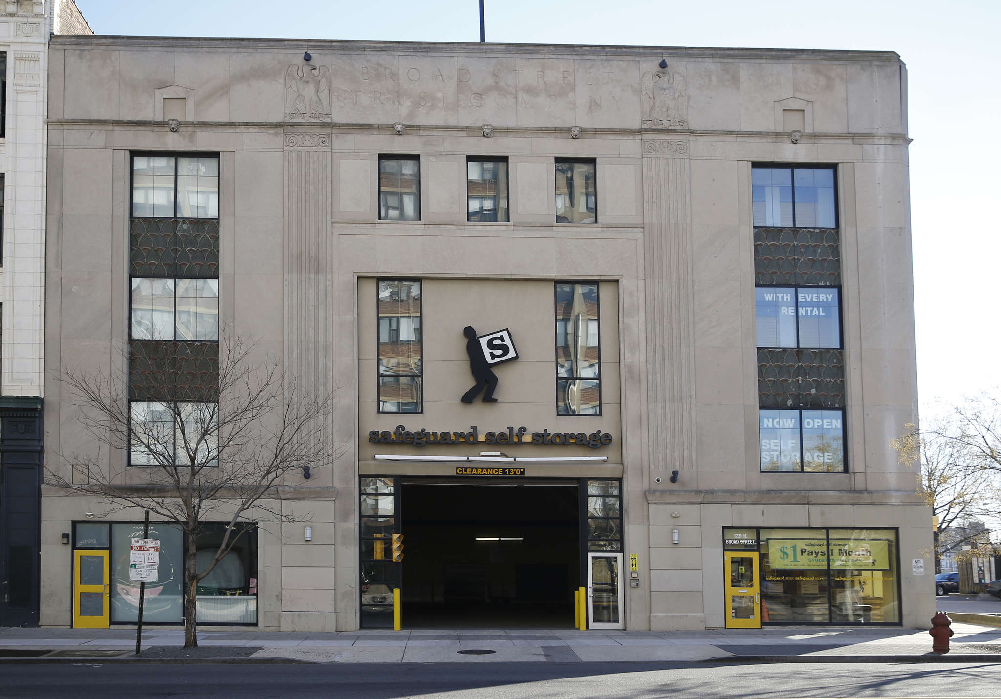 The Broad Street Trust Co. Building on North Broad Street was designed by Ritter & Shay and built in 1927. The design shows a transition to art deco.