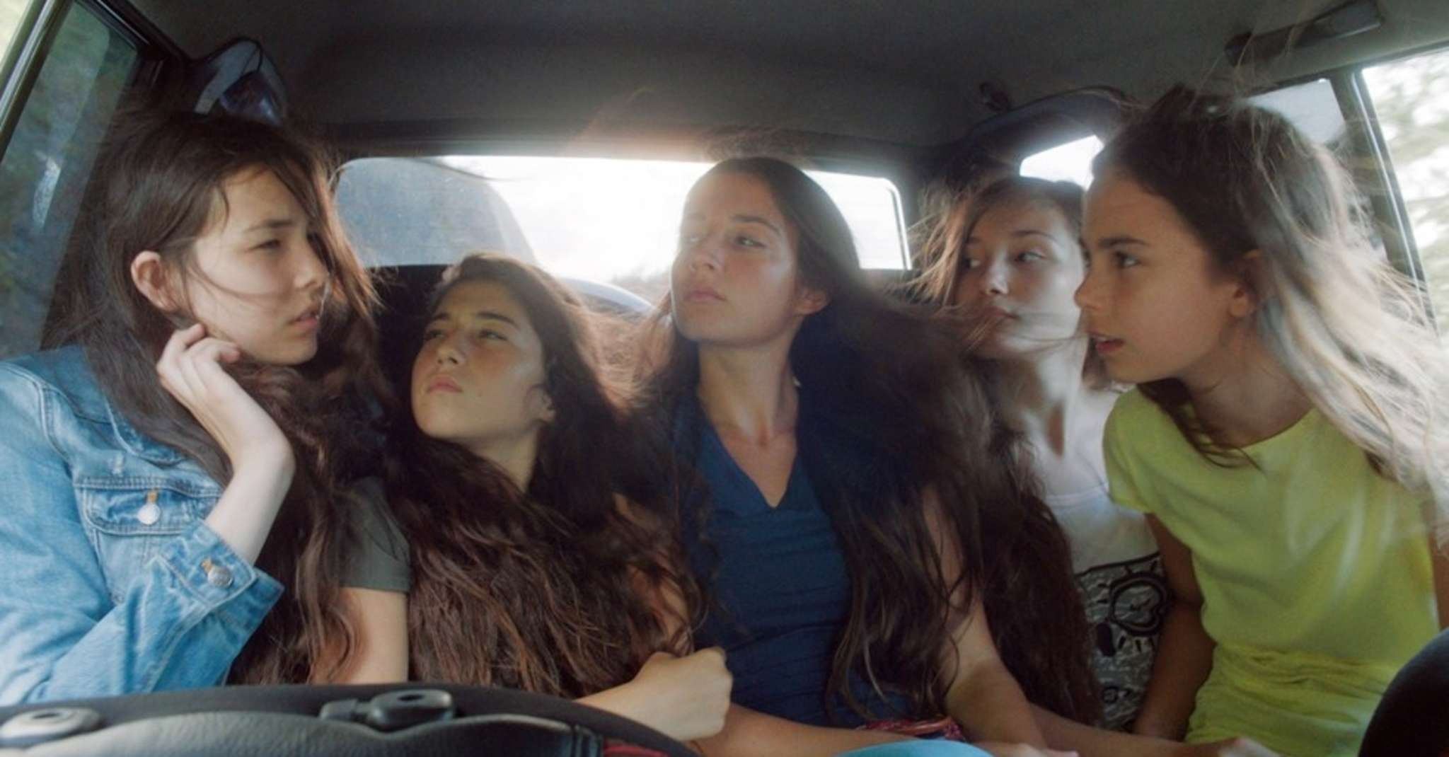 "Sisters played by (from left) Tugba Sunguroglu , Doga Zeynep Doguslu, Elit Iscan, Ilayda Akdogan, and Gunes Sensoy, struggle with an oppressive culture in ""Mustang,"" set in northern Turkey."