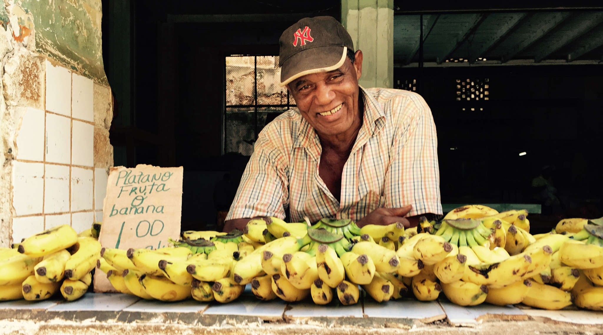 A banana vendor in Old Havana. As renovations advance at an astonishing pace in the city after the restoration of U.S. diplomatic relations, there are also efforts in Cuba to protect its cultural heritage.