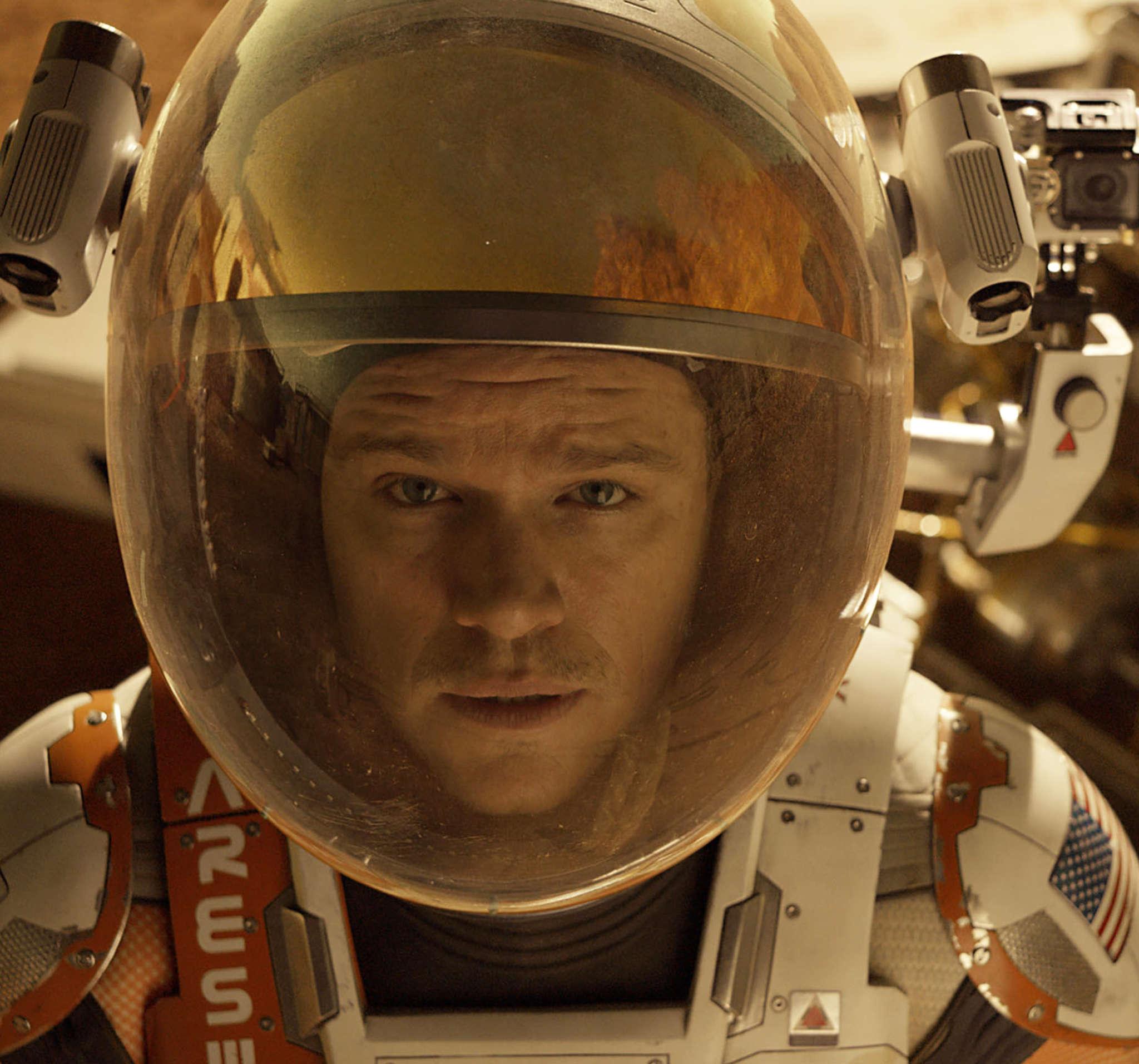"""Matt Damon stars in """"The Martian,""""a sci-fi drama."""
