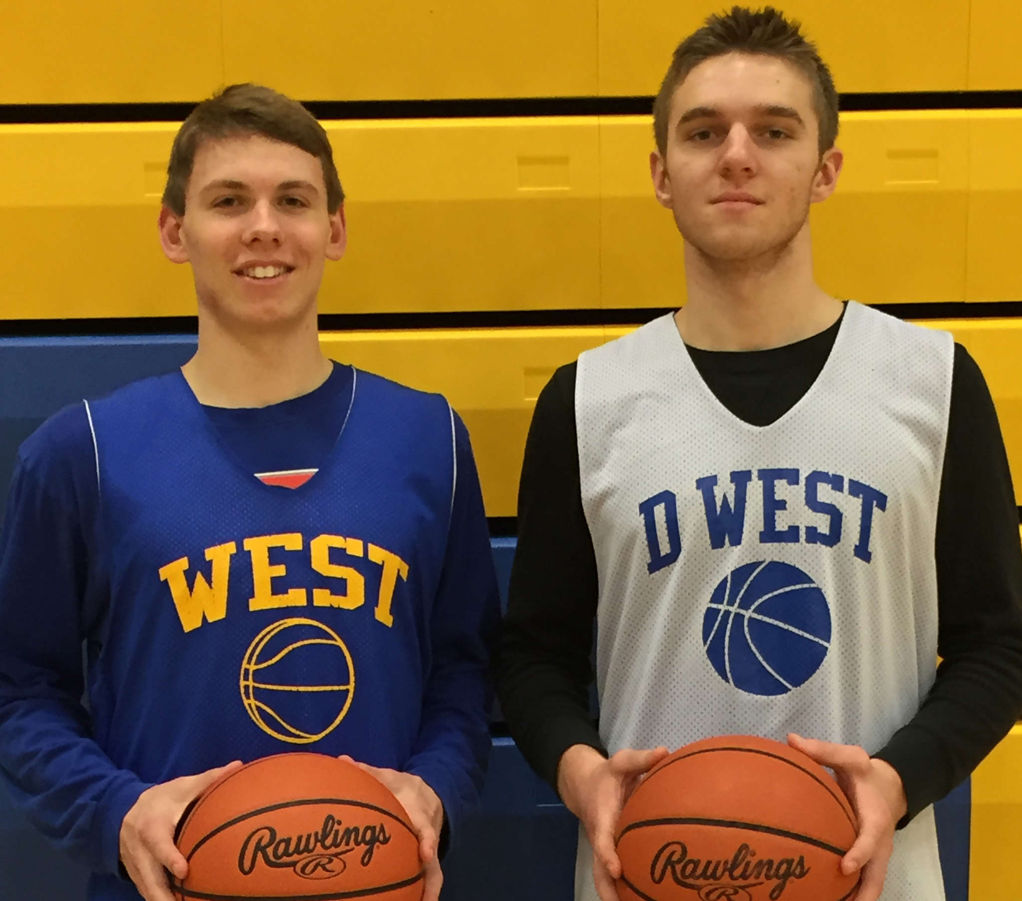 Downingtown West´s 1-2 punch: Ryan Betley (left) is averaging 18.5 points per game, and Josh Warren 15.4. Both seniors are headed for the Ivy League in the fall, the 6-foot-5 Betley to Penn and the 6-8 Warren to Cornell.