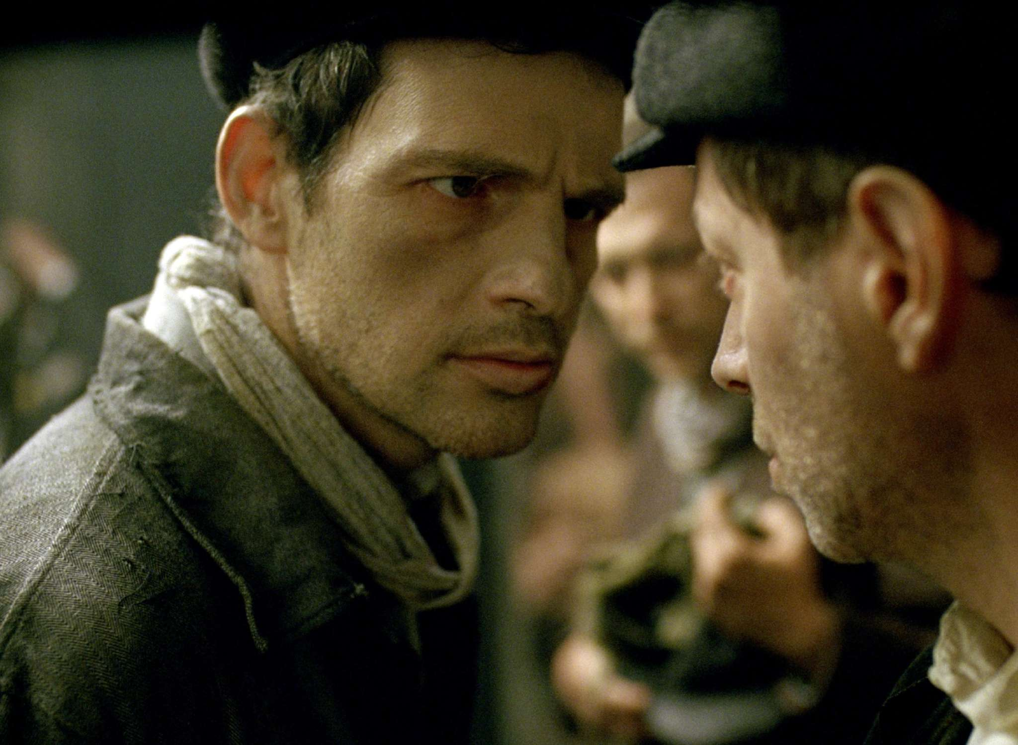 "In ""Son of Saul,"" Géza Röhrig (left) plays a Jewish prisoner recruited to aid the Nazis at the Auschwitz-Birkenau death camp."