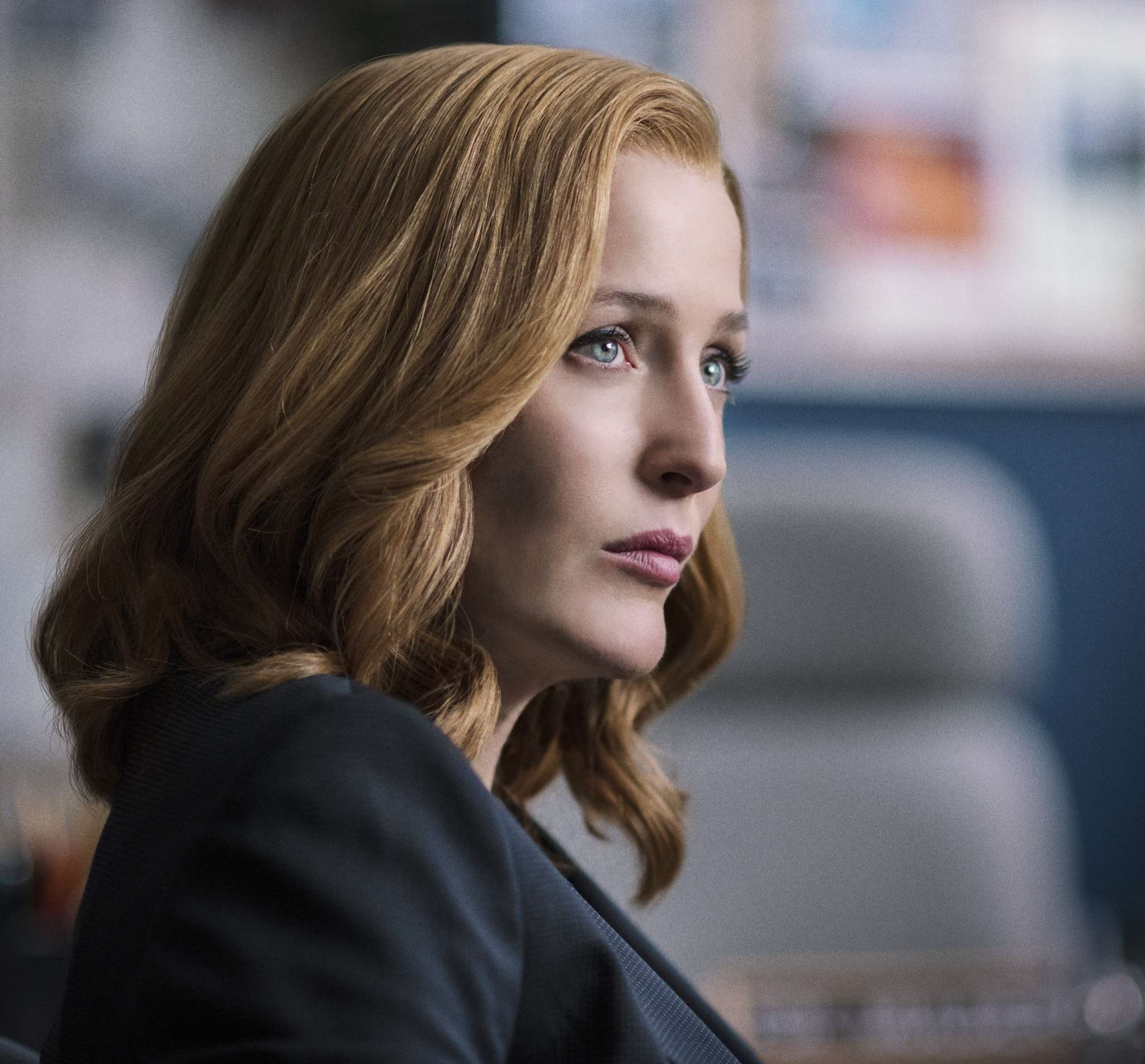 """Gillian Anderson in """"The X-Files"""" reboot."""