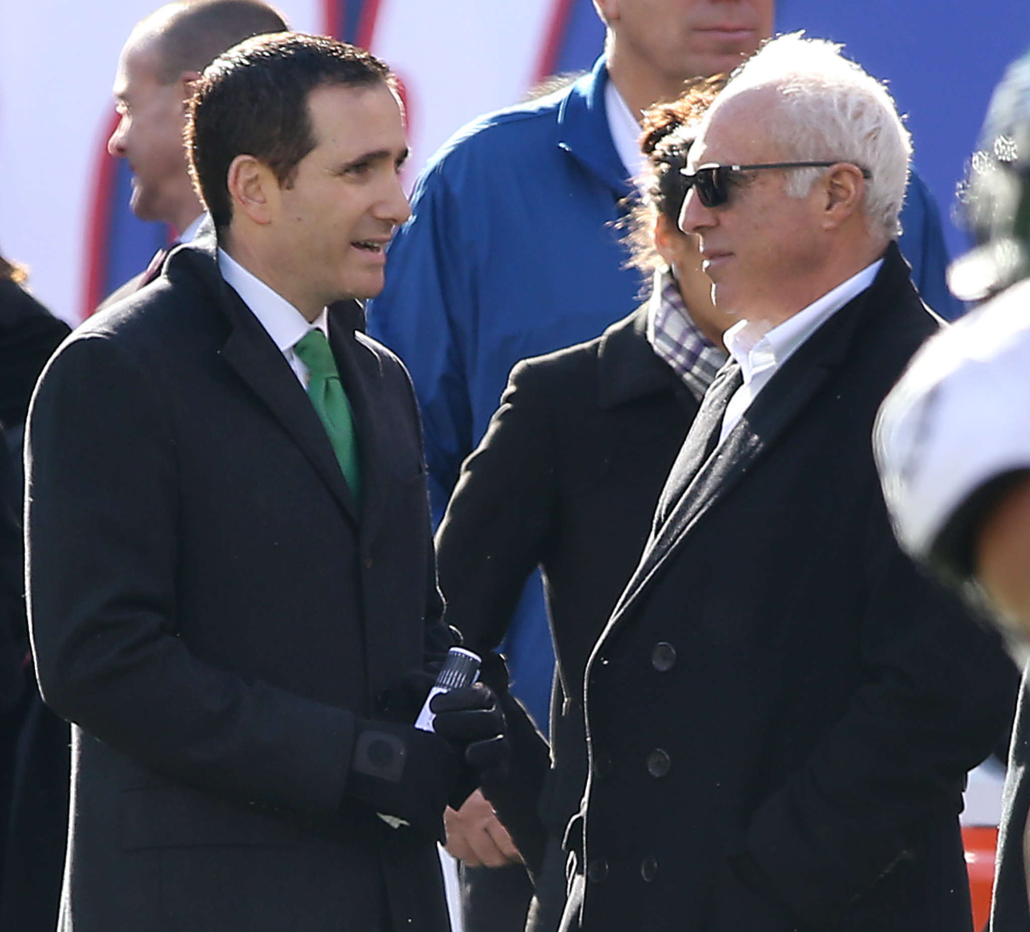 Howie Roseman (left), with owner Jeffrey Lurie, said he has worked on correcting his flaws.