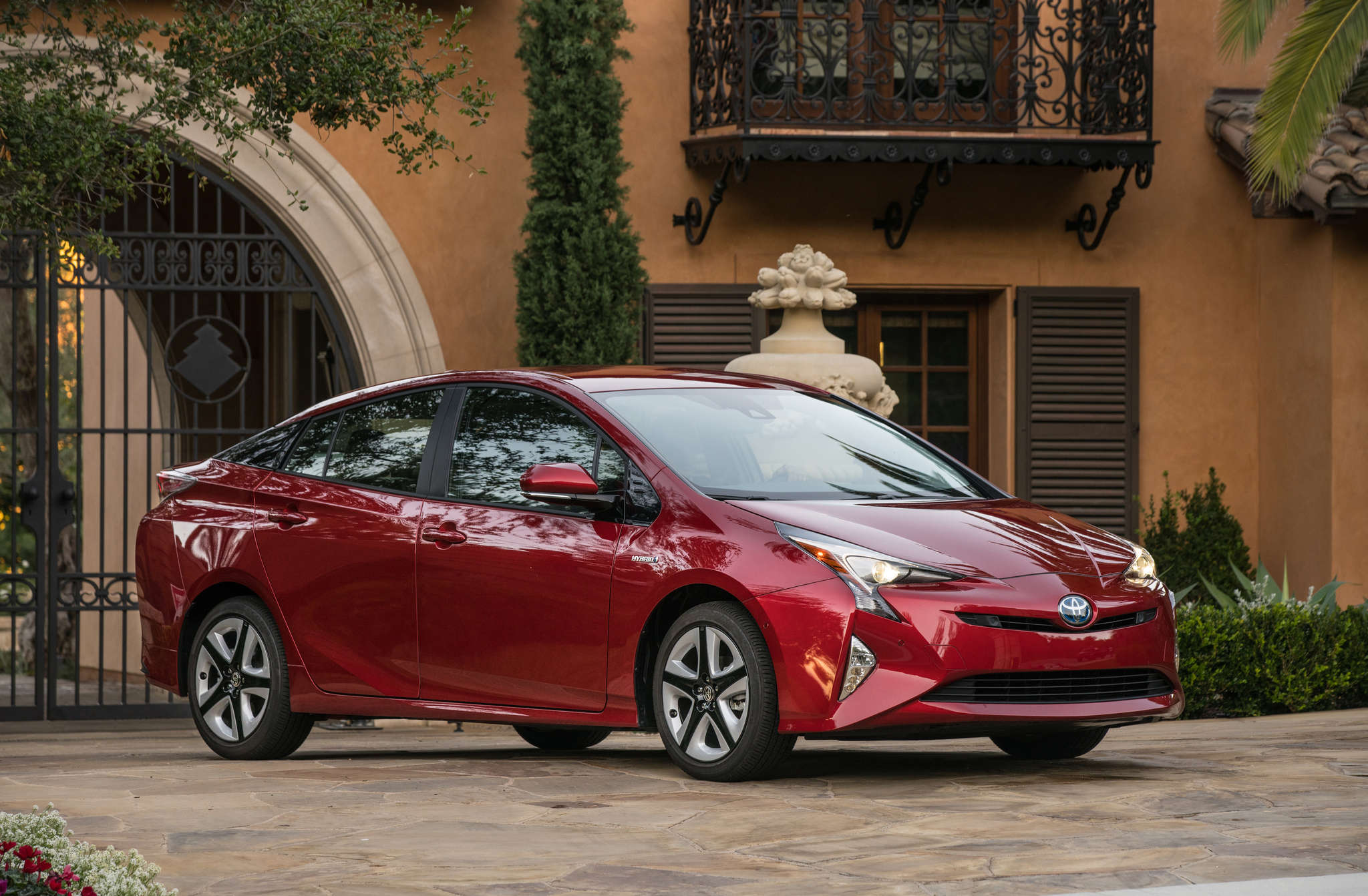 The 2016 Toyota Prius puts some new angles on the gas-electric hybrid vehicle.