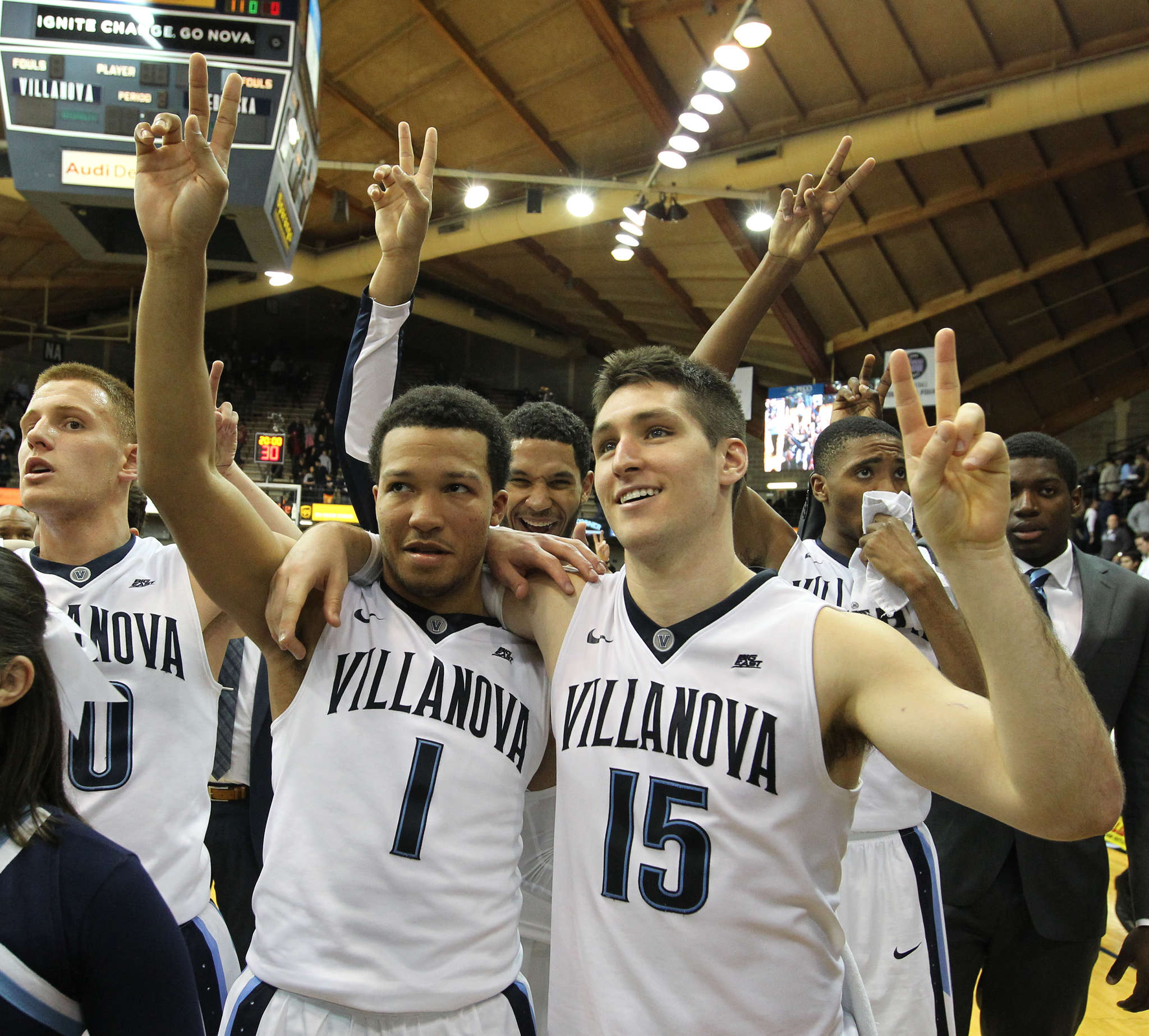 Villanova´s Jalen Brunson (left) and Ryan Arcidiacono are two of the main reasons the Wildcats are 20-3 overall, 10-1 in the Big East, and No. 1 in the country.