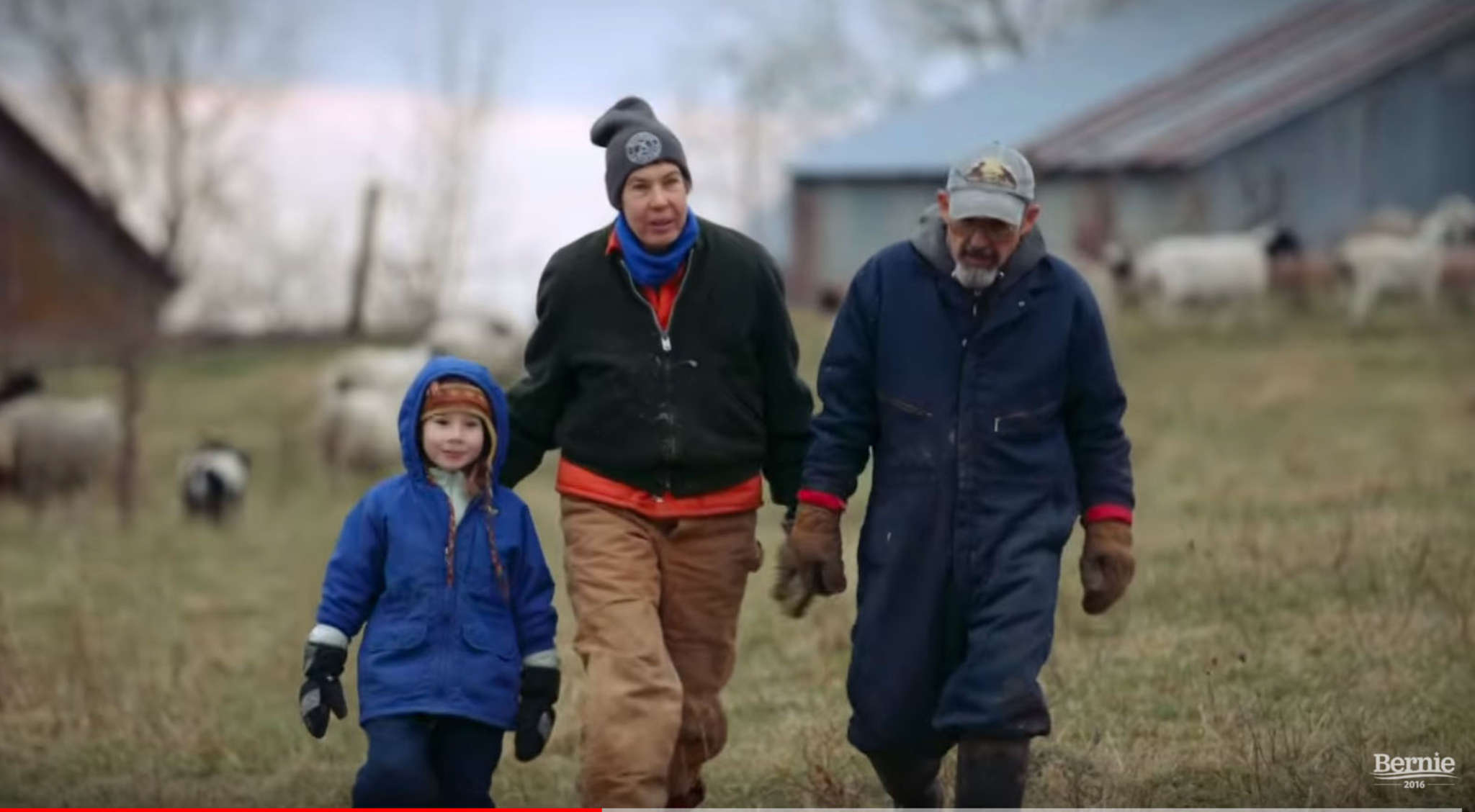 "A campaign ad for Democratic presidential candidate Bernie Sanders (center) uses Simon and Garfunkel´s 1968 ballad ""America"" amid images of American life with the tagline ""A Future to Believe In."""