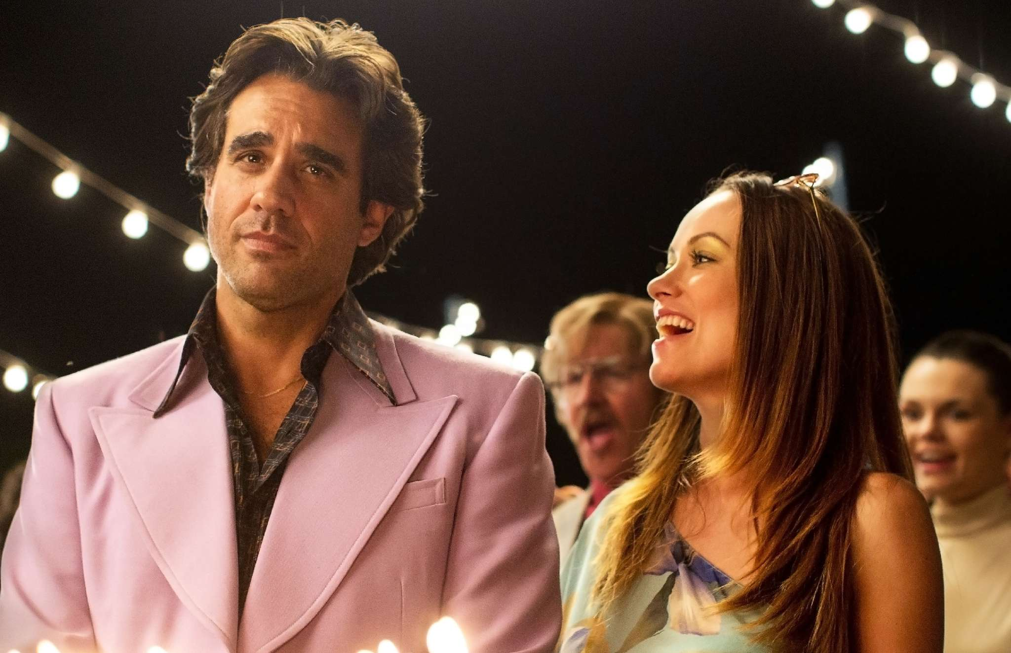 "In the series ""Vinyl,"" cocreated by Martin Scorsese, Mick Jagger, and Terrence Winter, Bobby Cannavale plays a stressed-out 1970s music executive and Olivia Wilde is his former fashion-model wife.  HBO"