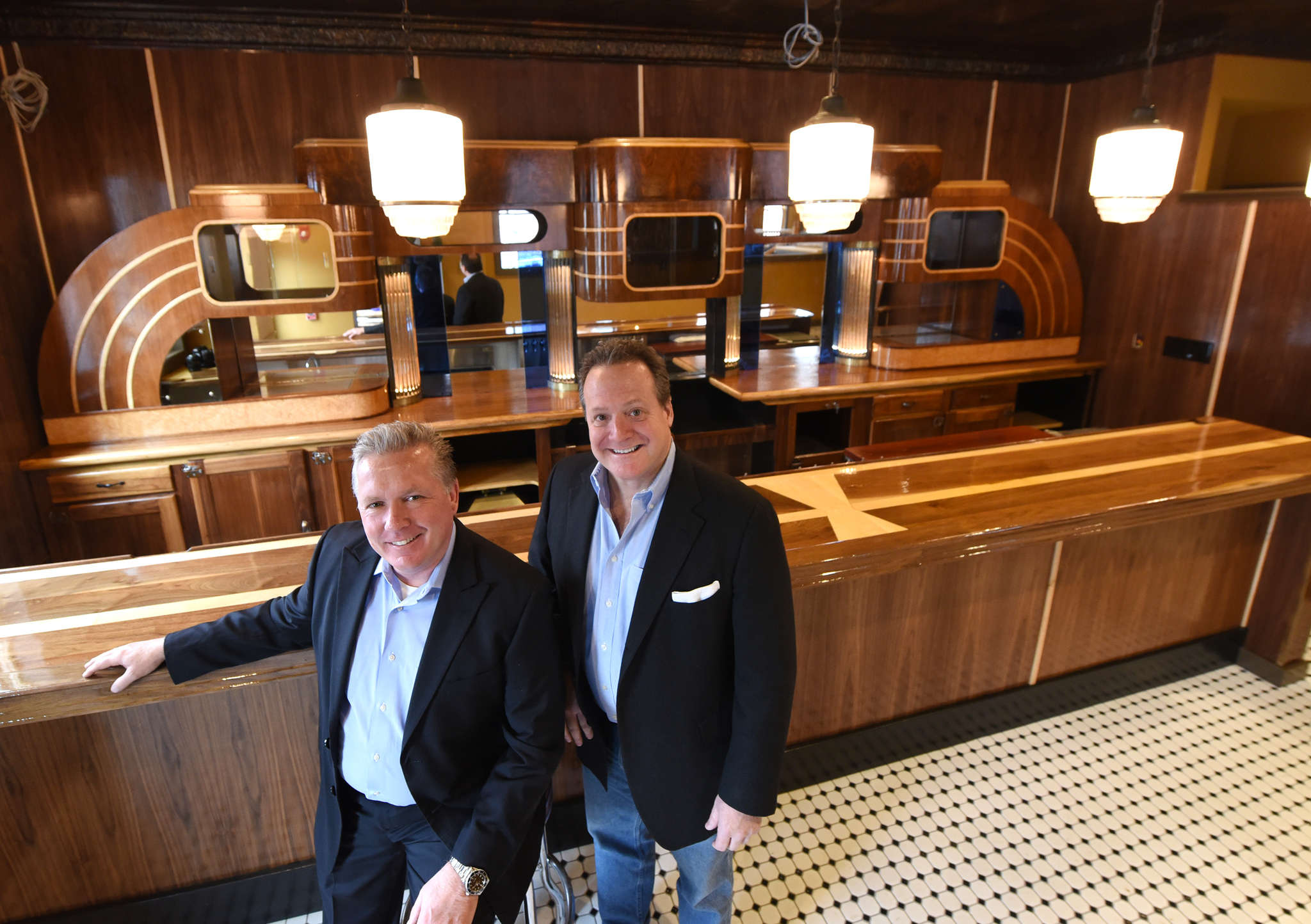 Tom Page (left) and Tom Monahan have resurrected Chubby´s, offering a new take on a beloved, long-gone night spot and steak house in Haddon Township. The new version is expected to open in the spring.