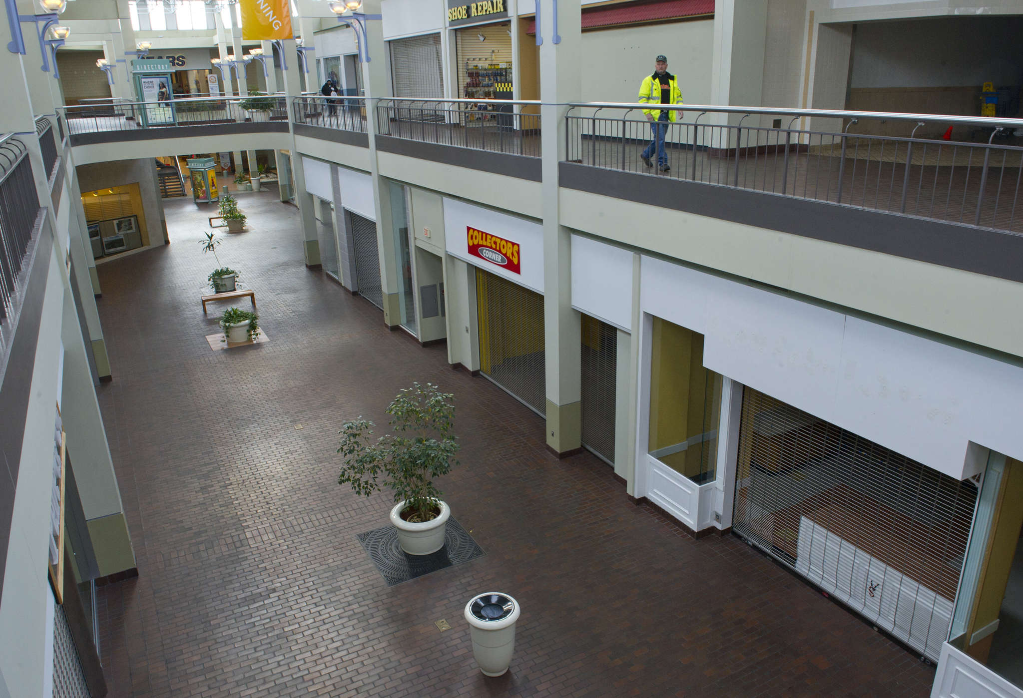 The old Burlington Center in Burlington Township, now called the Marketplace at Burlington, has lost tenants.