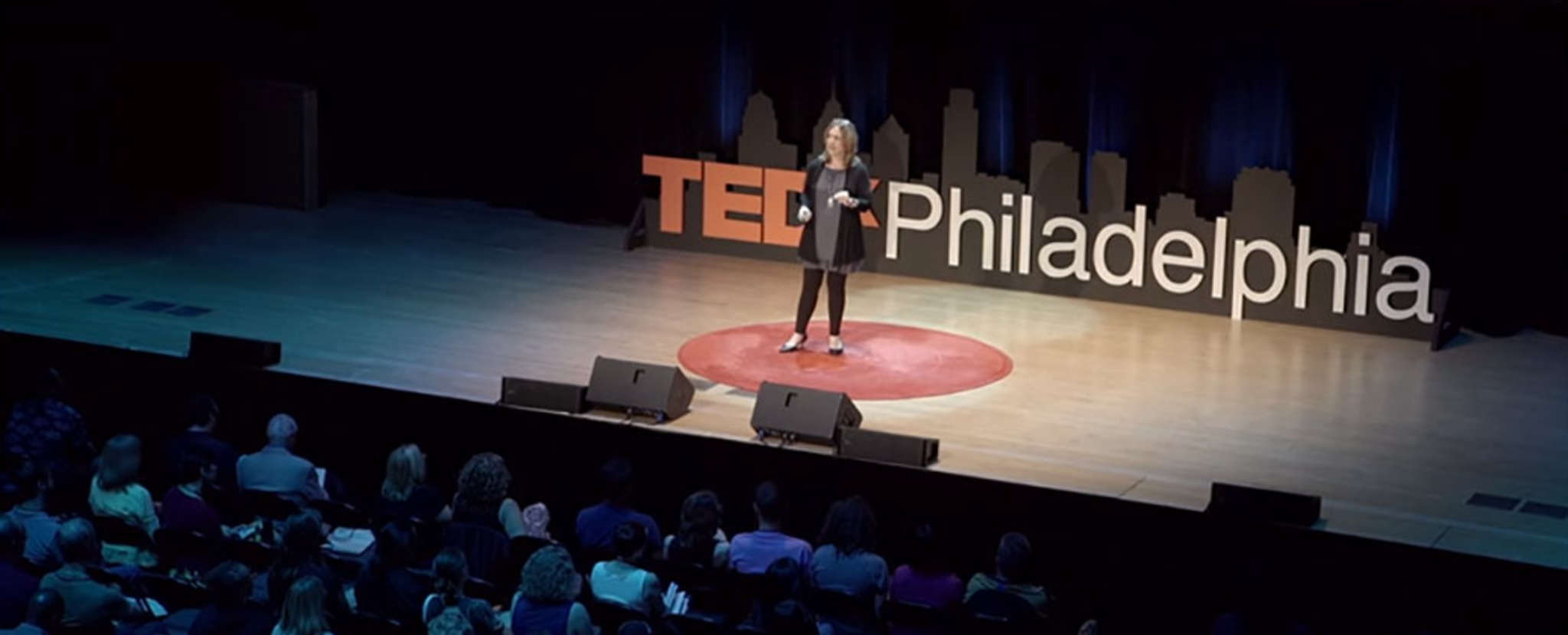 People Paper columnist Ronnie Polaneczky delivering her TEDxTalk, but she´ll tell you: She learns more by listening.