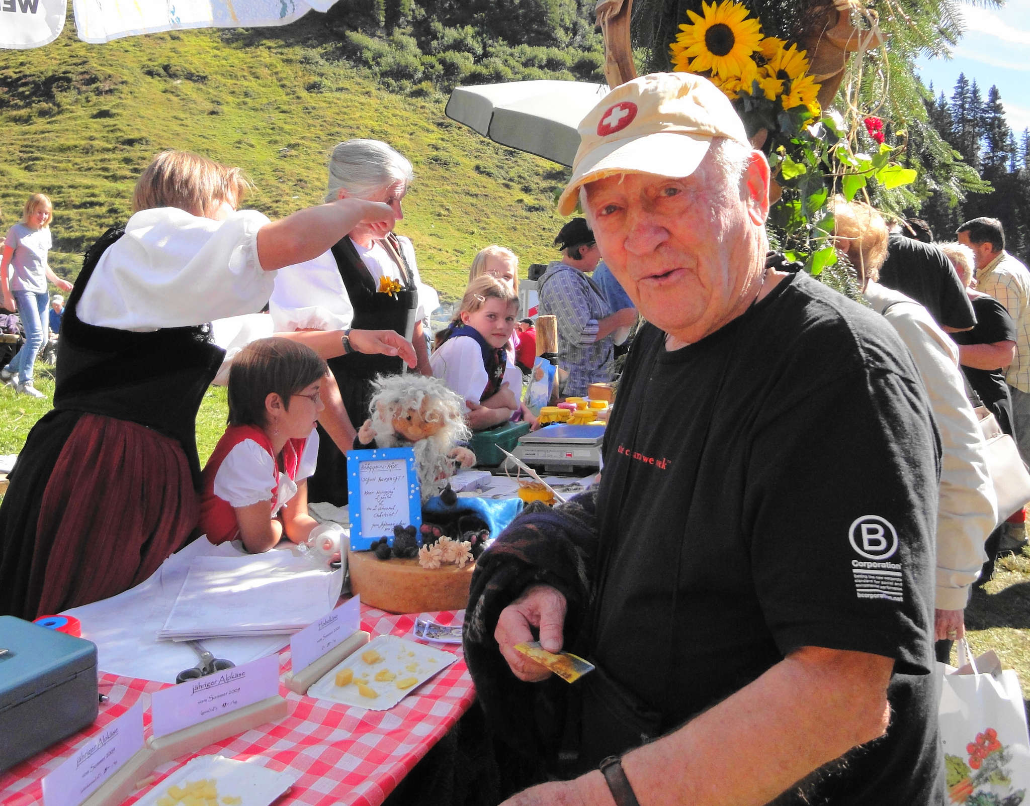 "Harold E. ""Hal"" Taussig, cofounder of Untours travel planning and the Untours Foundation, at a festival in Switzerland in 2010. He died in January at age 91."