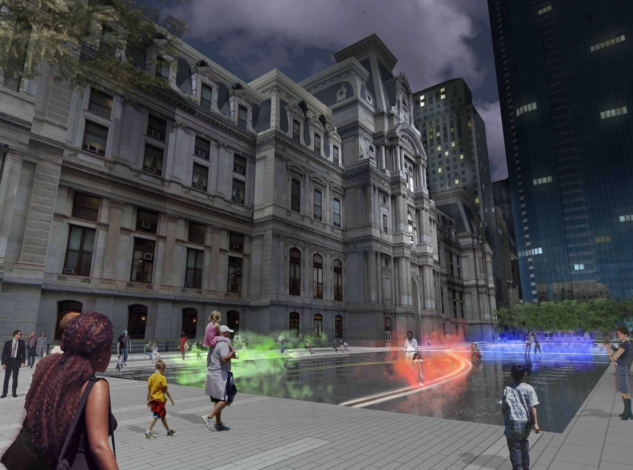 "An artist´s rendering is all that´s visible of ""Pulse,"" a public artwork planned for Dilworth Park but stalled by the Center City District´s inability to raise money for the project."