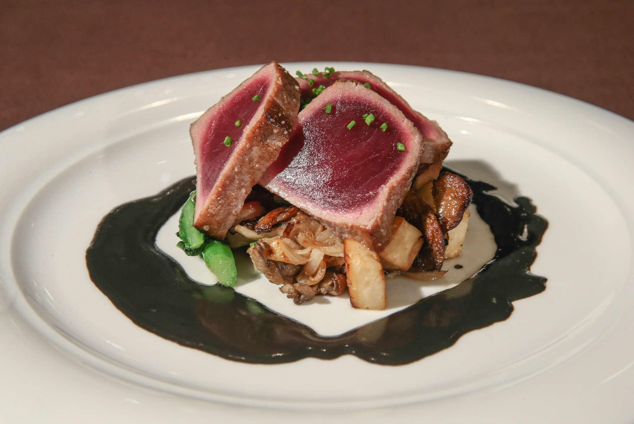 Tuna over black garlic at 26 North BYOB.