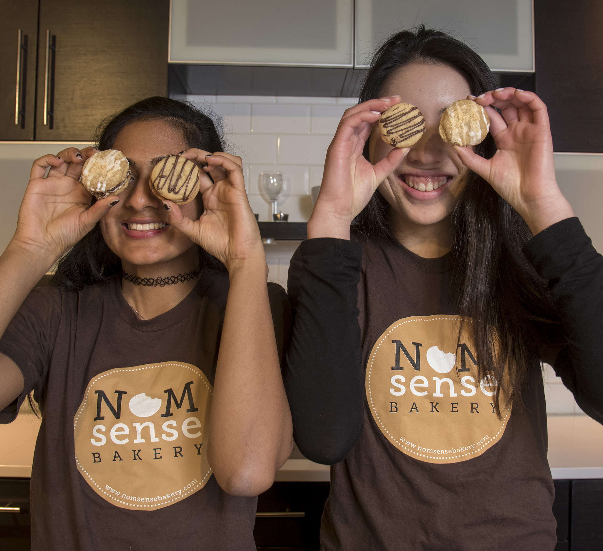 Roopa Shankar (left) and Alina Wong, co-founders of NOMsense Bakery