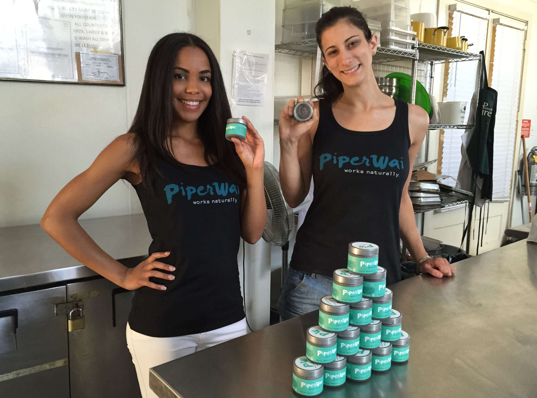 Sarah Ribner (left) and Jess Edelstein have made some adjustments to their operations as they market natural deodorant, such as not charging customers until their orders have been shipped.