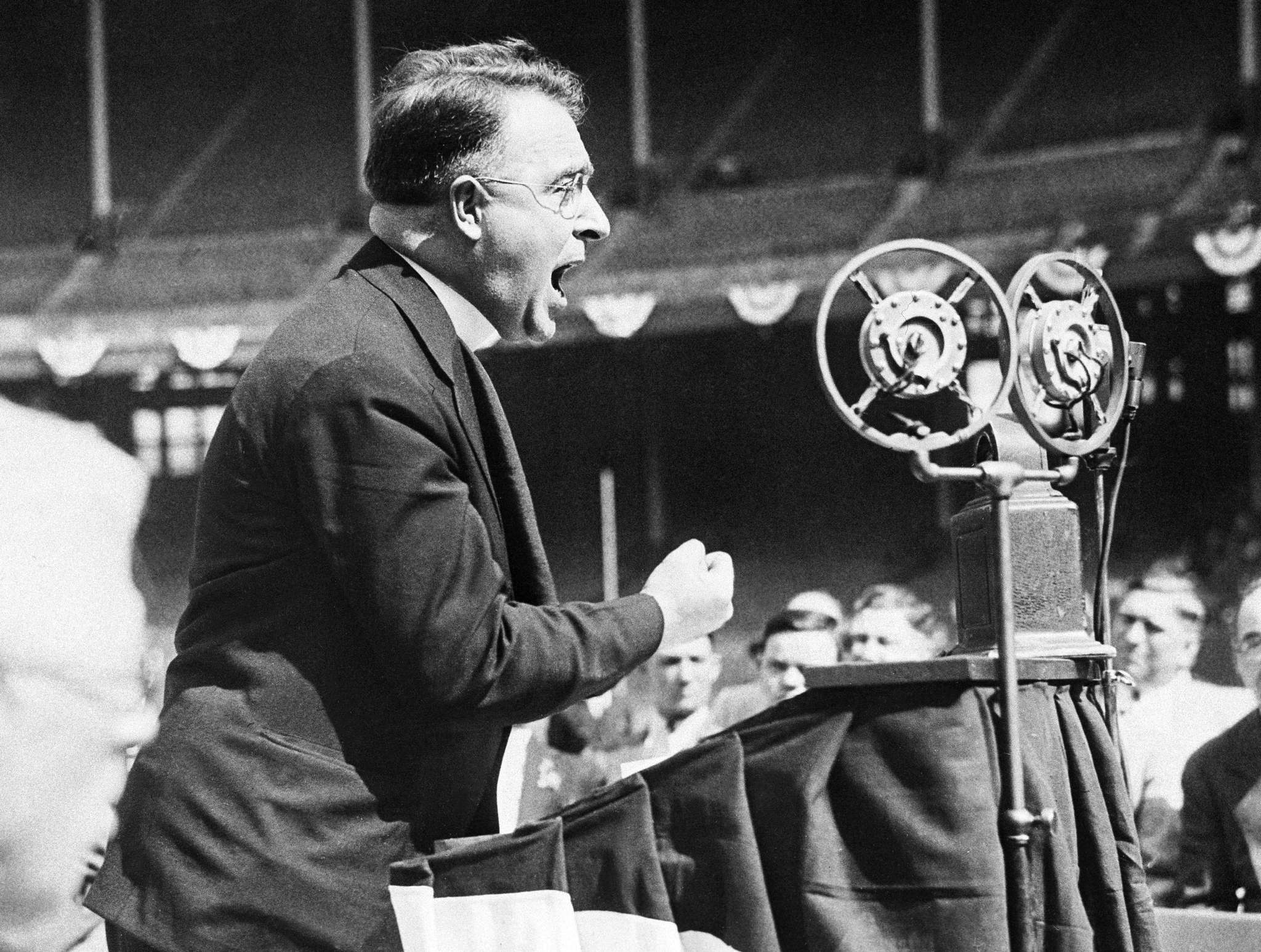 Father Charles Coughlin used the radio as a political tool during the Great Depression to lash out against President Roosevelt for being too cozy with the banks and Federal Reserve. Sound familiar?