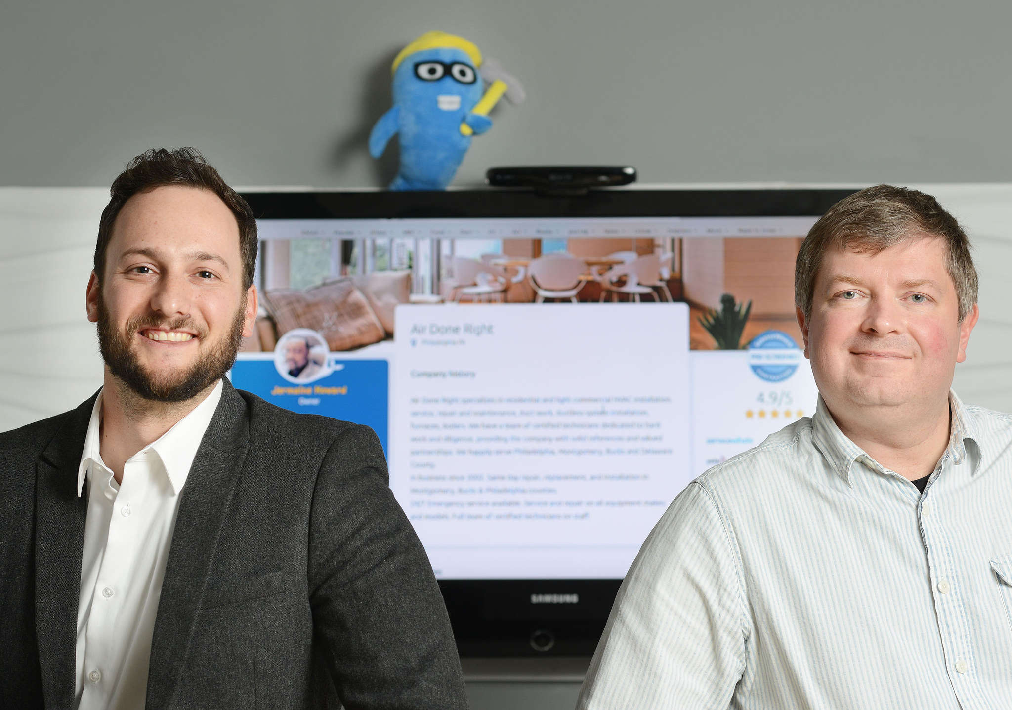 "ServiceWhale was inspired by founder Dmitri Saveliev (right) having a bad experience with home improvement. Aaron Rovner (left) said it creates a ""full e-commerce solution."""