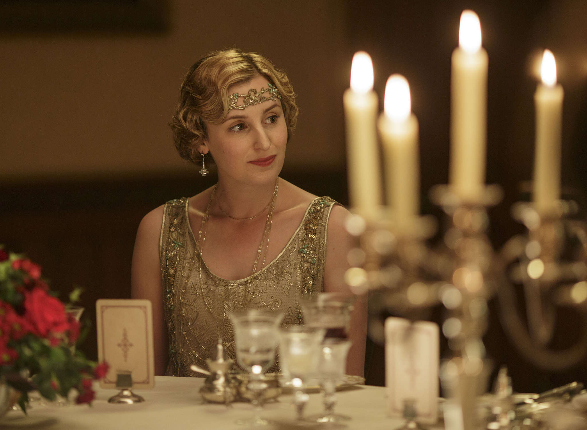 """Downton Abbey"" ended with Lady Edith (Laura Carmichael, above) and the rest of the upstairs and downstairs residents settled, more or less."