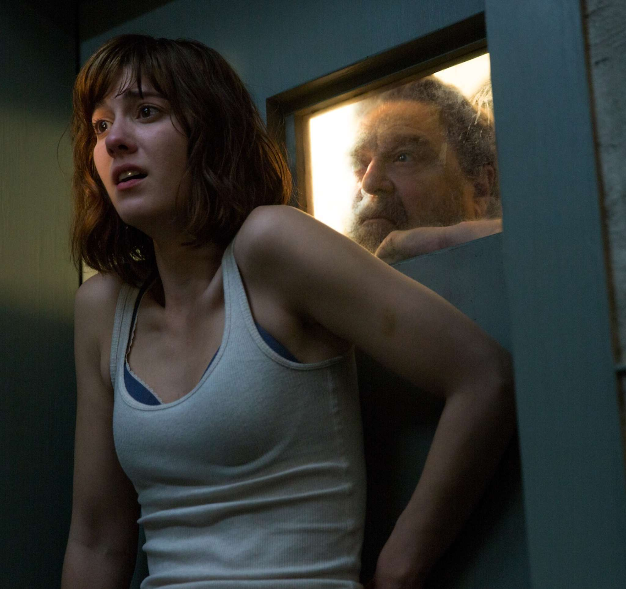 "Where´s the monster?: Mary Elizabeth Winstead and John Goodman in Dan Tachtenberg´s sci-fi thriller ""10 Cloverfield Lane."""