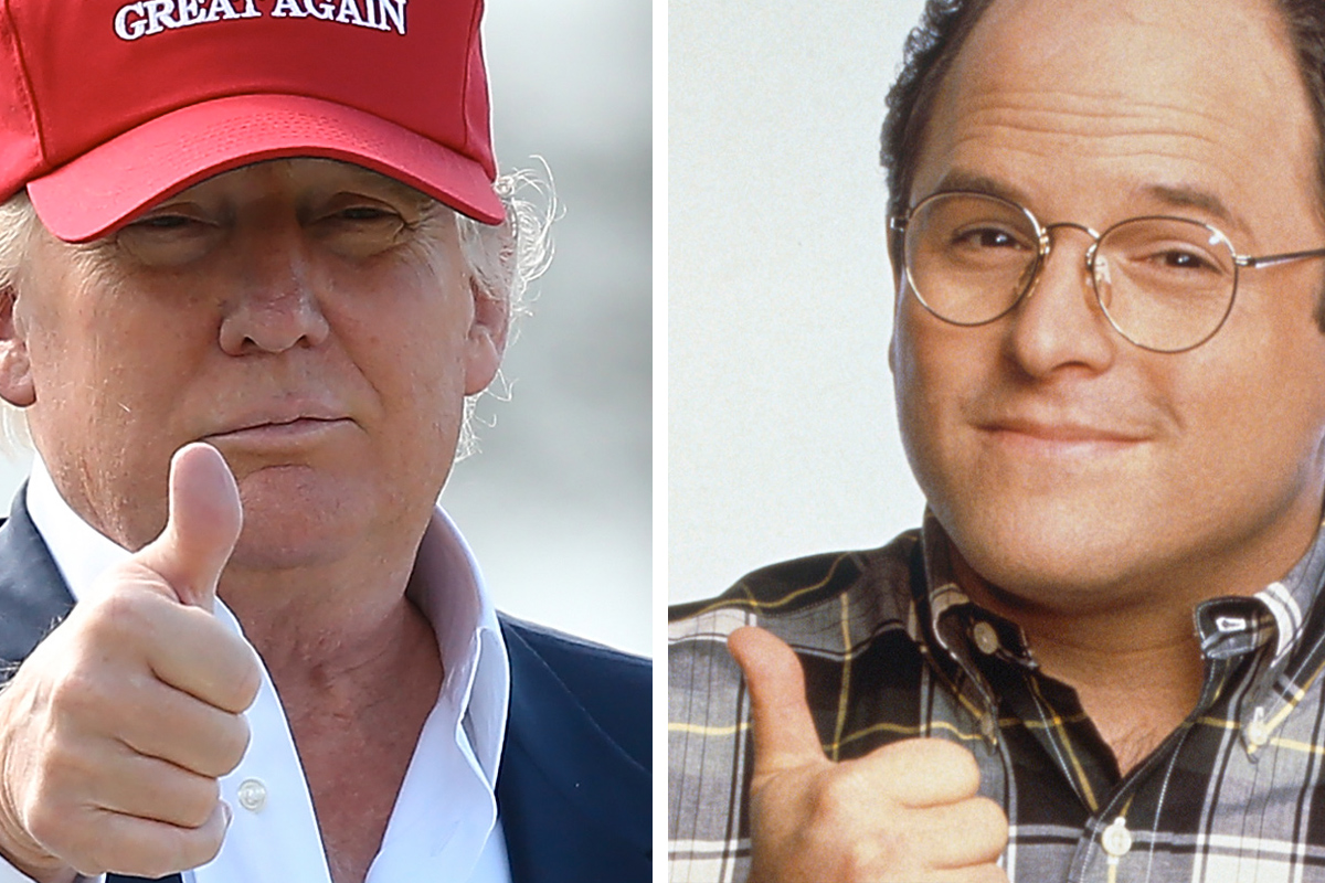 Donald Trump has done the opposite of what is expected of a presidential candidate, making him the George Costanza of the 2016 cycle.
