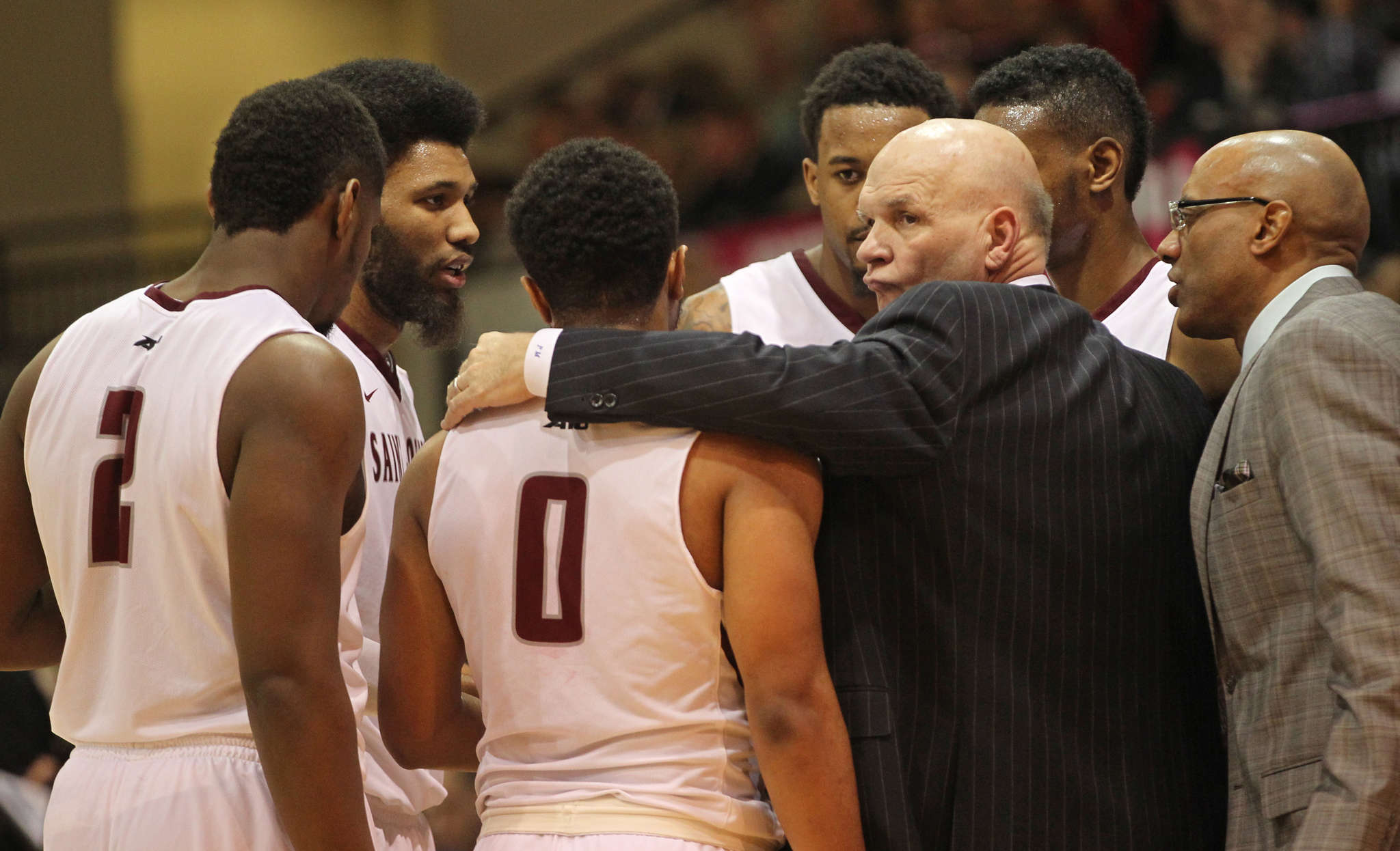 """It will be business as usual for coach Phil Martelli and the St. Joseph´s Hawks. """"Do you watch more tape because it´s the NCAA tournament?"""" Martelli said. """"No, why would I change a routine?"""" MICHAEL BRYANT / Staff Photographer"""