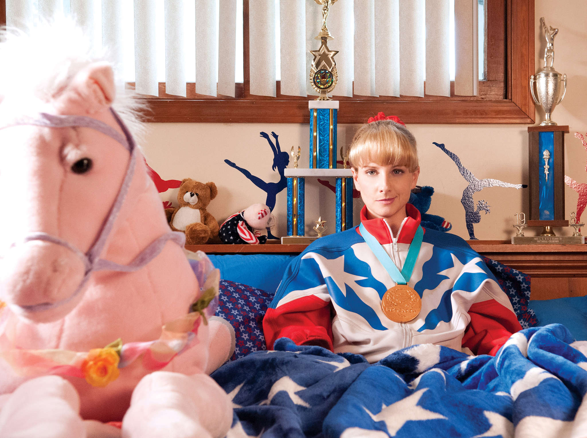 "Melissa Rauch (of ""The Big Bang Theory"") stars as a foulmouthed, faded, layabout Olympian in ""The Bronze."""
