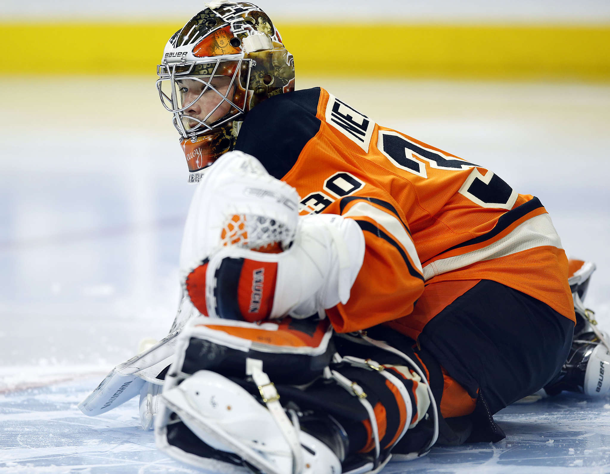 Flyers goalie Michal Neuvirth will miss the rest of the regular season with an undisclosed injury. YONG KIM / Staff Photographer