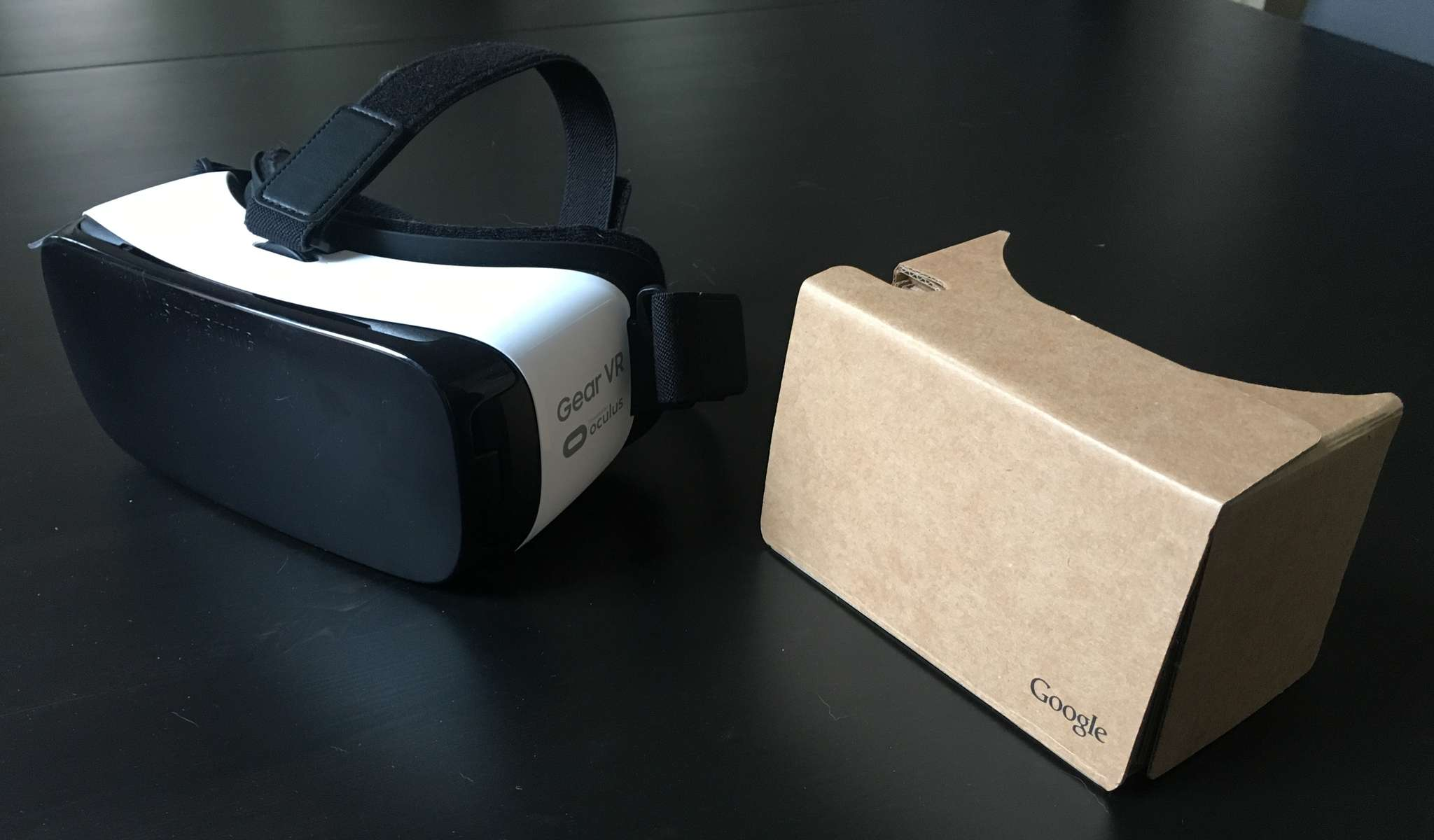 Samsung Gear VR (above left) and Google Cardboard offer inexpensive introductions to the wonderful world of VR (virtual reality).
