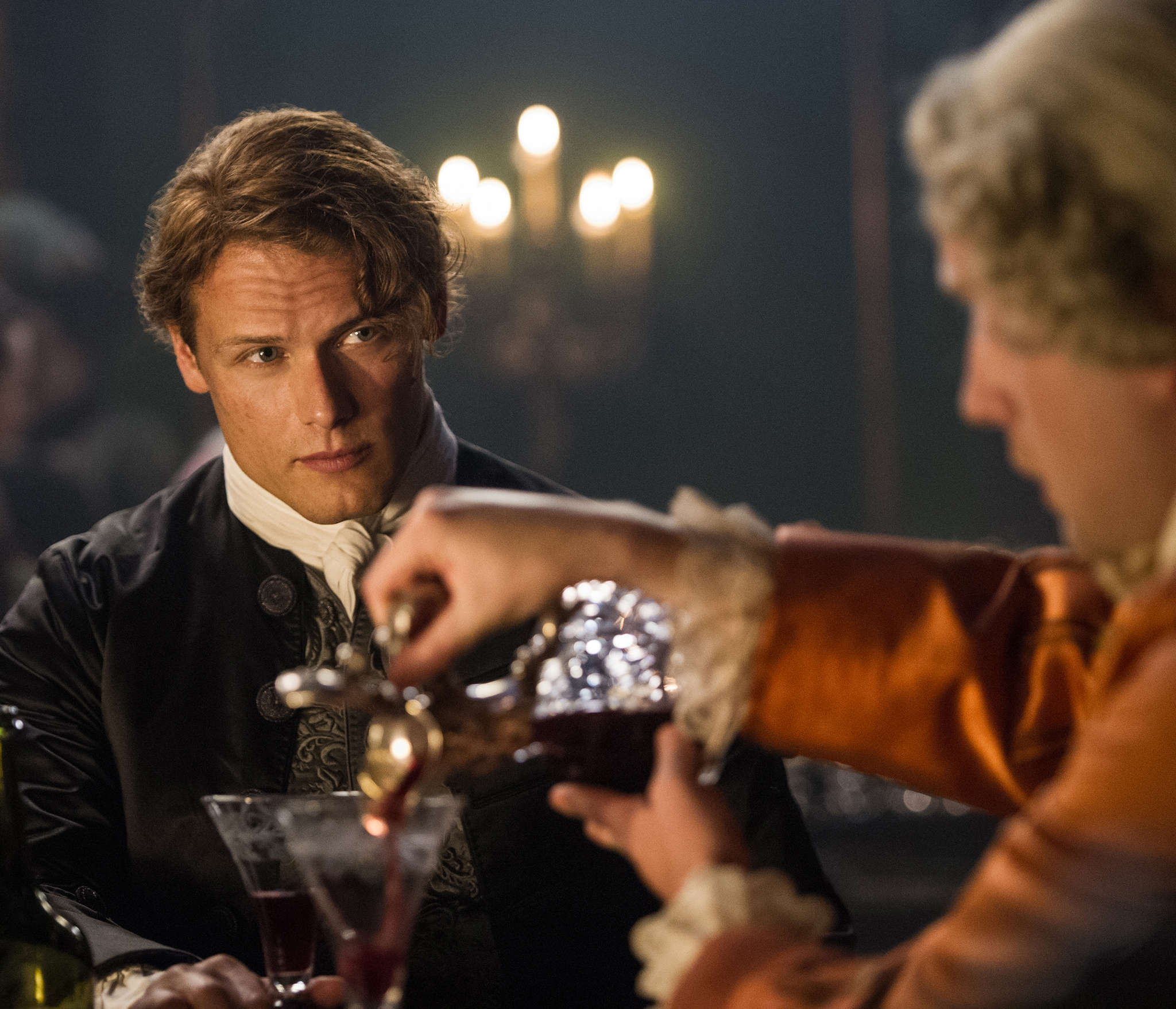 """Jamie Fraser (Sam Heughan) is out to alter British history in the second season of """"Outlander."""""""