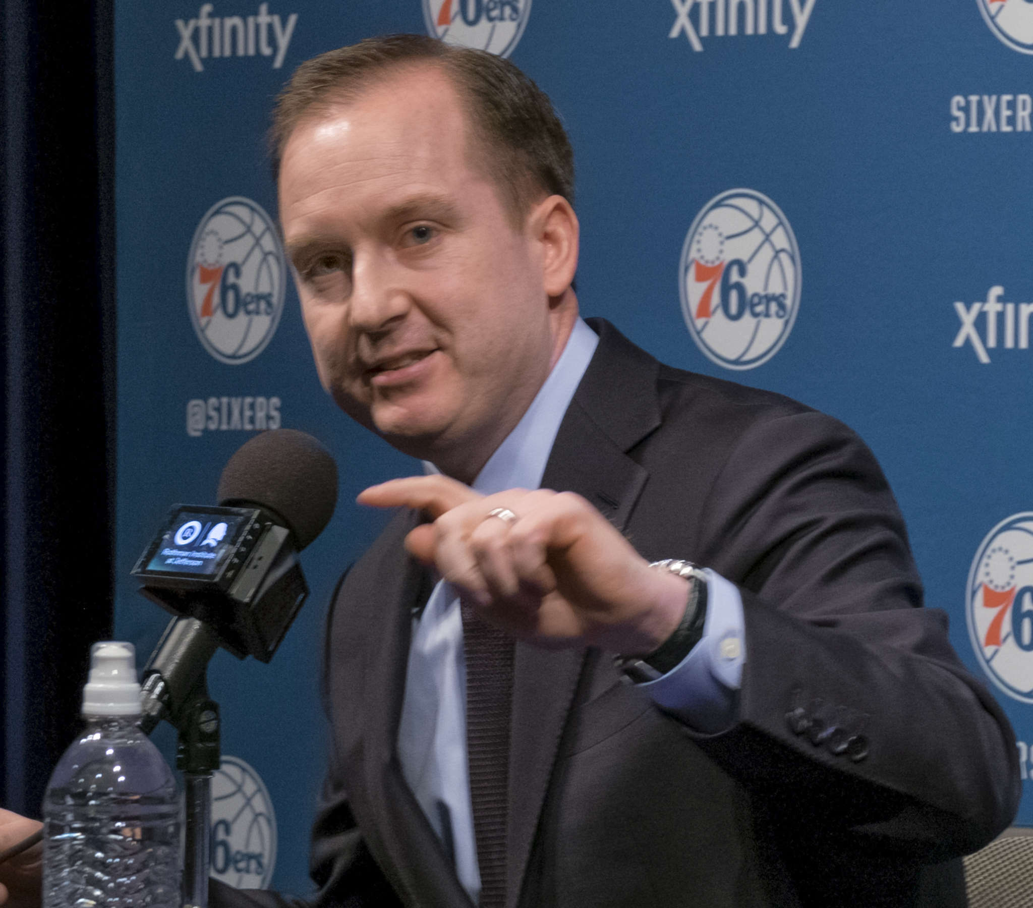 Sam Hinkie presided over teams that went a combined 47-195 in his three seasons as the Sixers general manager. ED HILLE / Staff Photographer