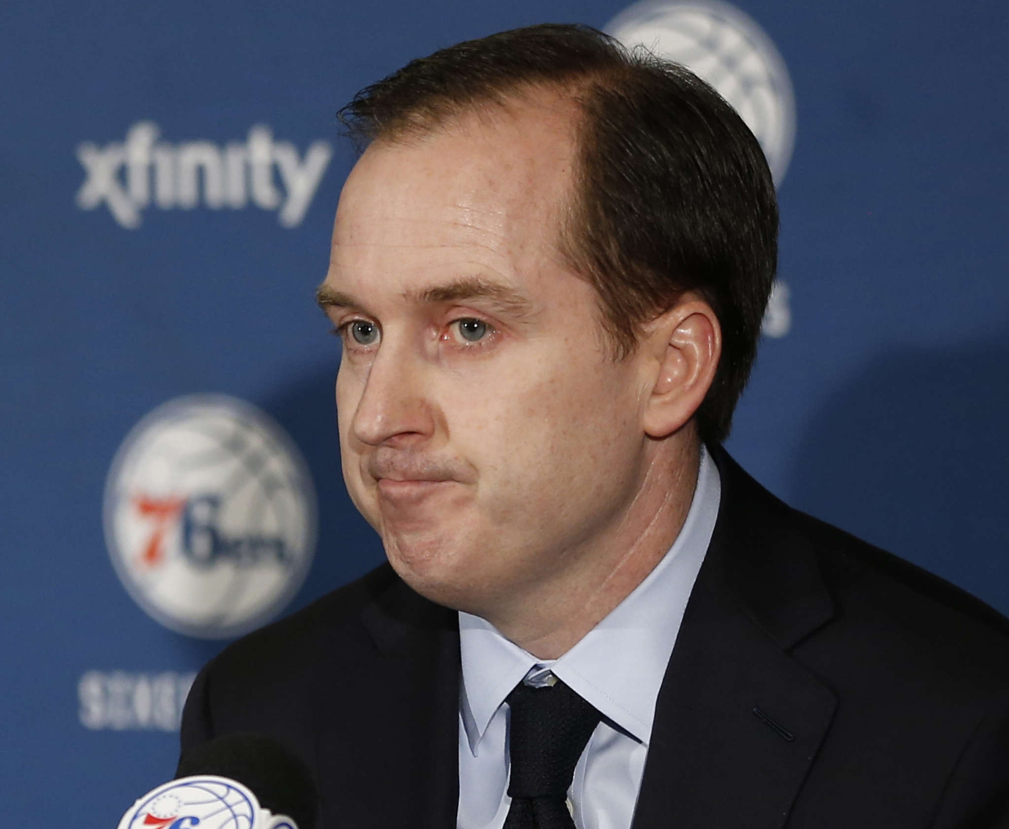 Sam Hinkie wrote a 13-page letter to Sixers owners explaining why he was was resigning as GM. Associated Press