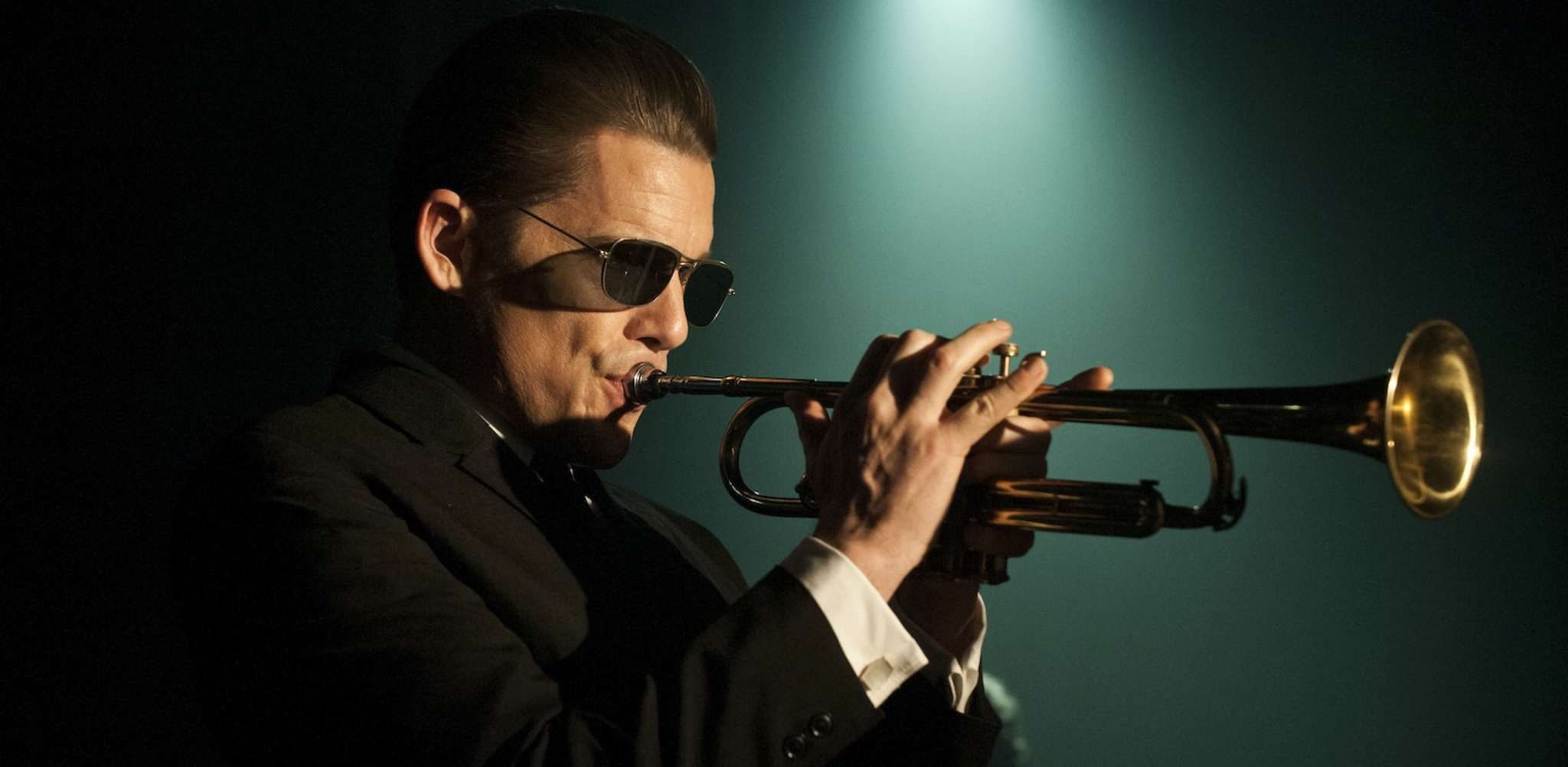 """Hard life: Ethan Hawke gives an immersive performance as 1950s jazz trumpeter and singer Chet Baker in """"Born to Be Blue."""""""